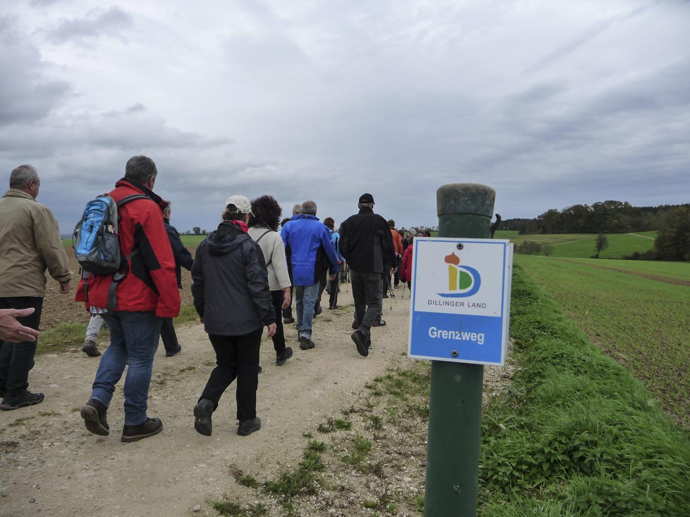 Eröffnungswanderung am Grenzweg 2014