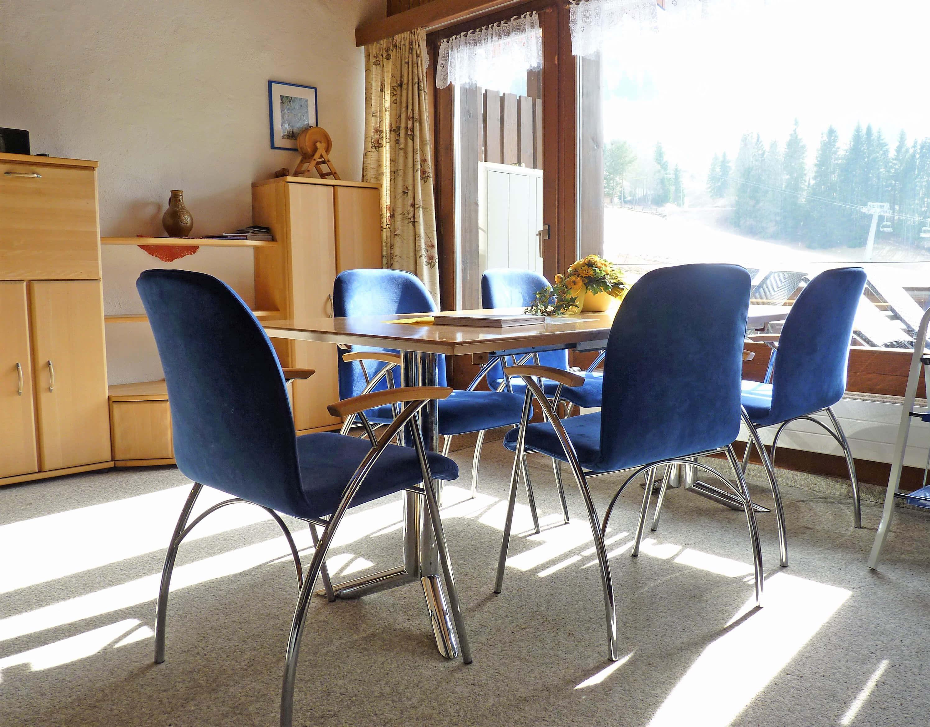 Barbara H21 Wohnzimmer Esstisch Aussicht