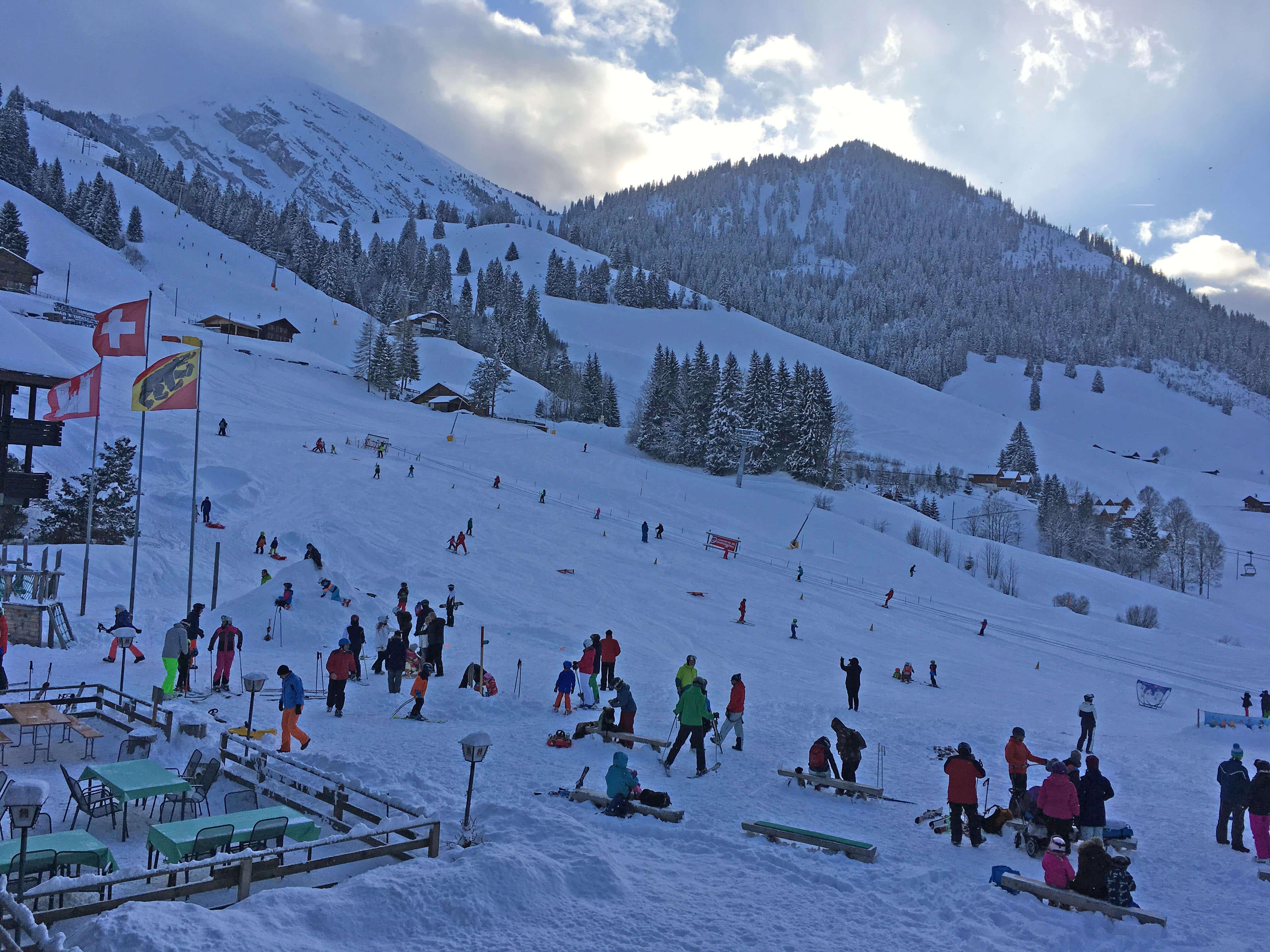 Aussicht Winter Skipiste Skischule