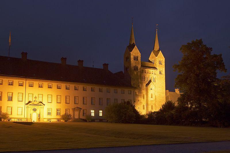 Schloss Corvey beleuchtet