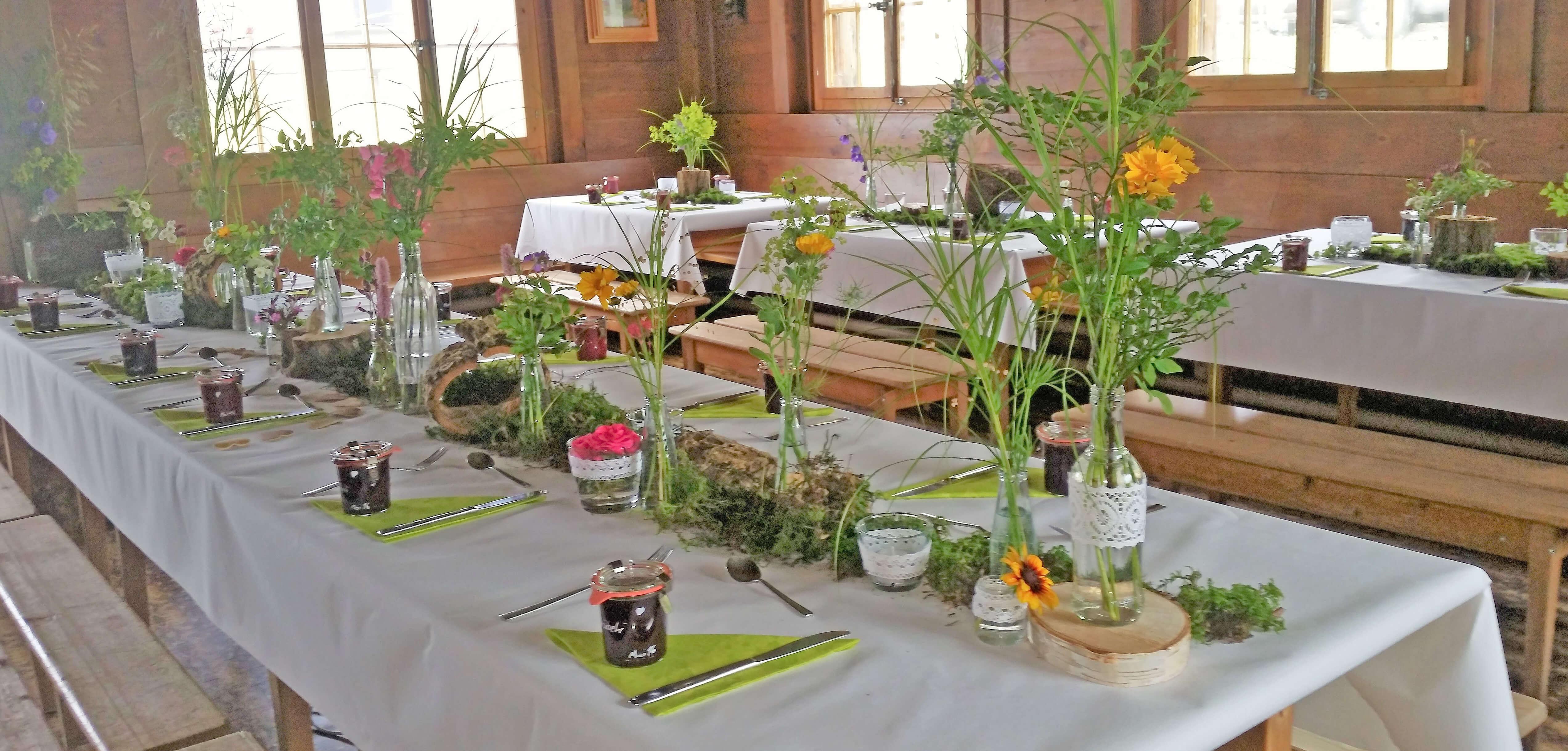 Familienfest Dekoration Blumen