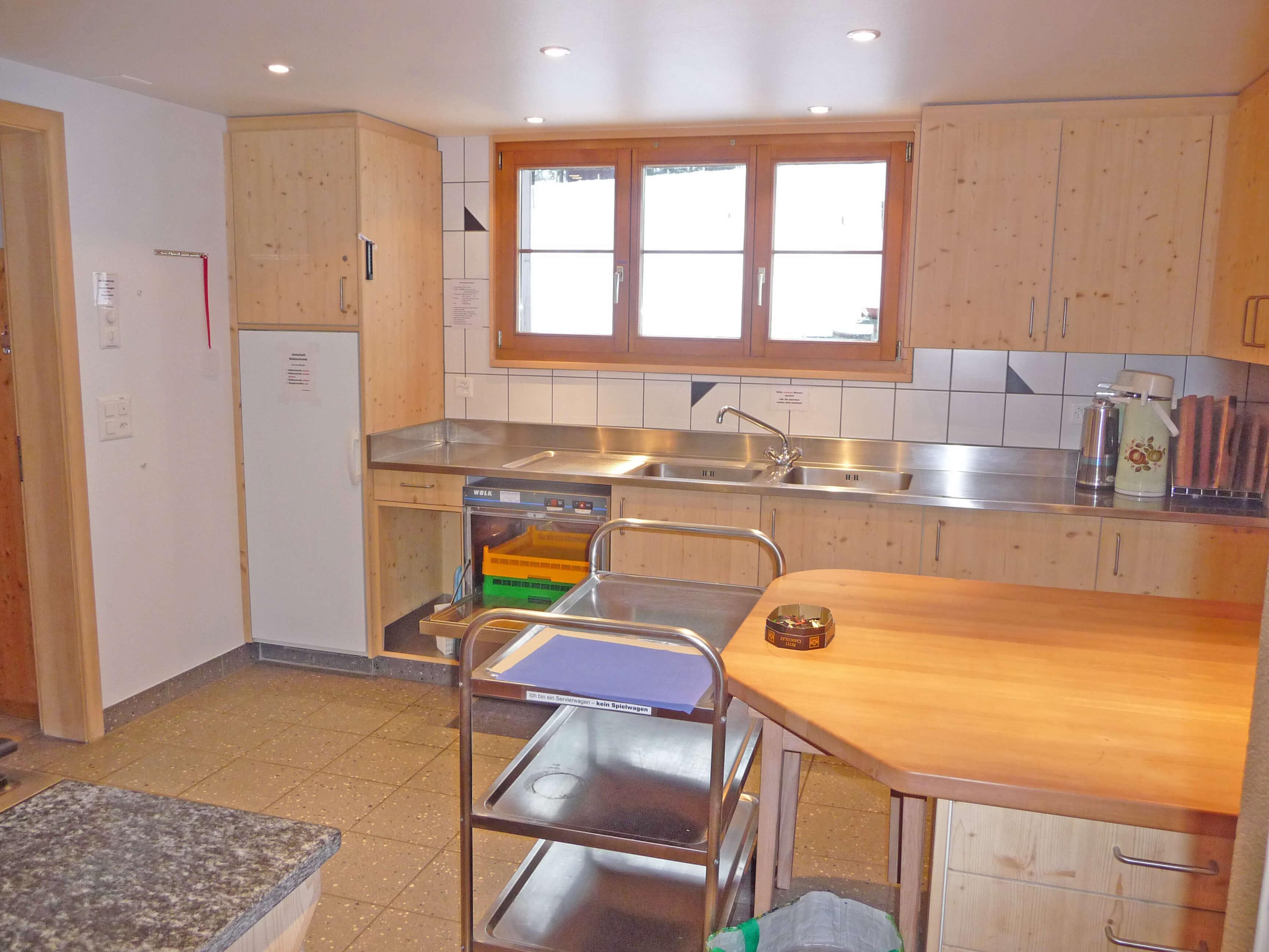 Küche Abwaschmaschine Staldenmaadhütte