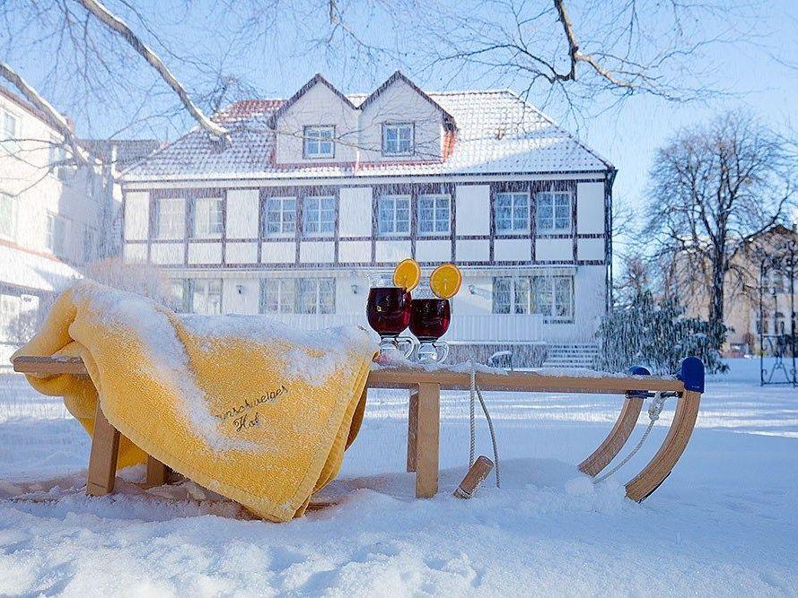 Romantik Hotel Braunschweiger Hof in Bad Harzburg - Garten im Winter