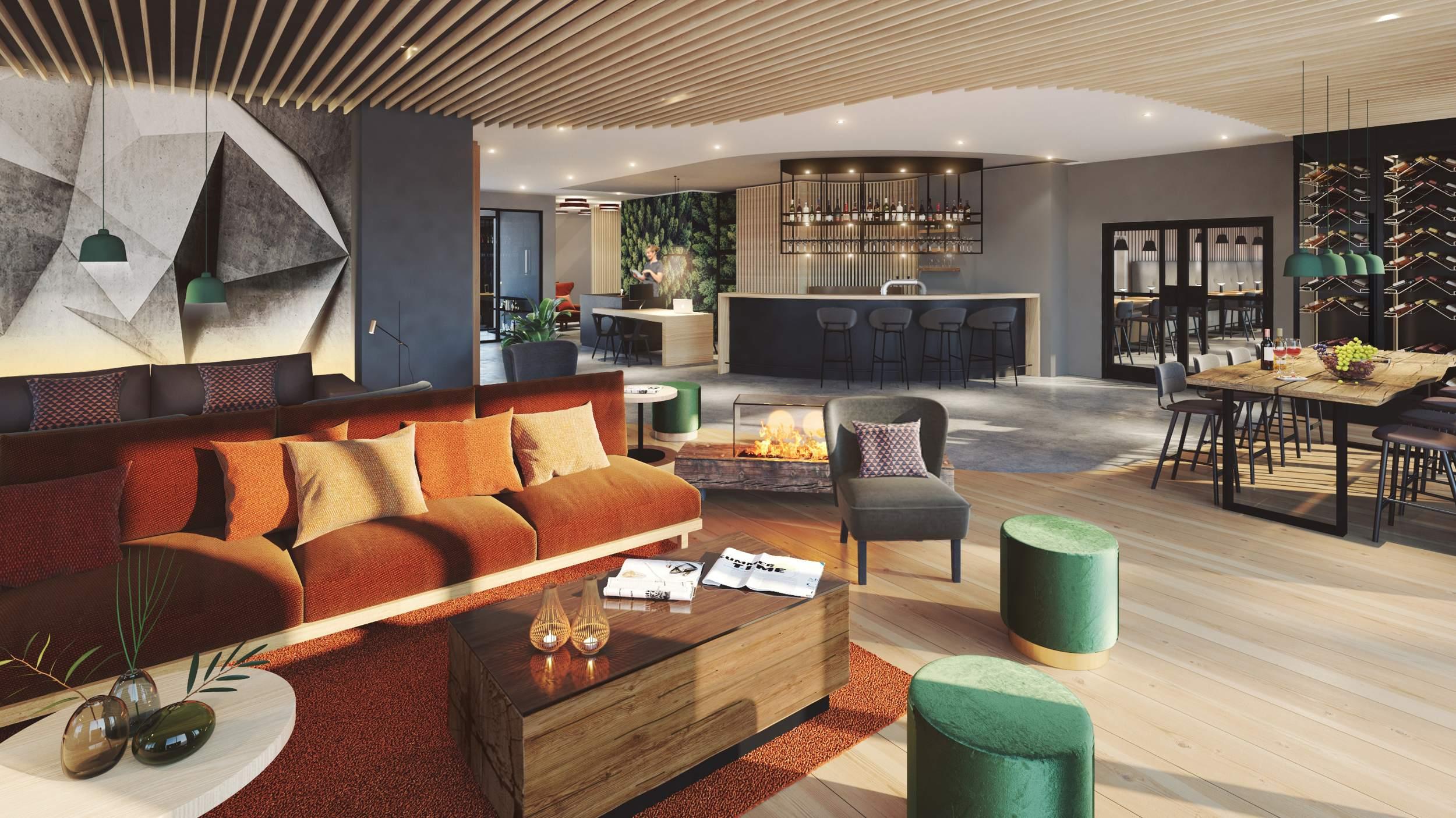 Romantik Hotel FreiWerk Stolberg - Empfangsbereich mit Bar