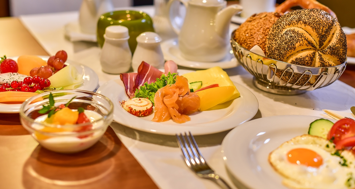 Pension Alscher in Goslar - Frühstücksbuffet