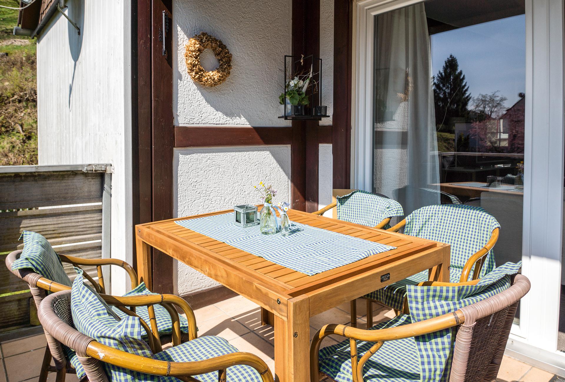 Ferienhaus Wildwechsel in Herzberg OT Lonau -Balkon