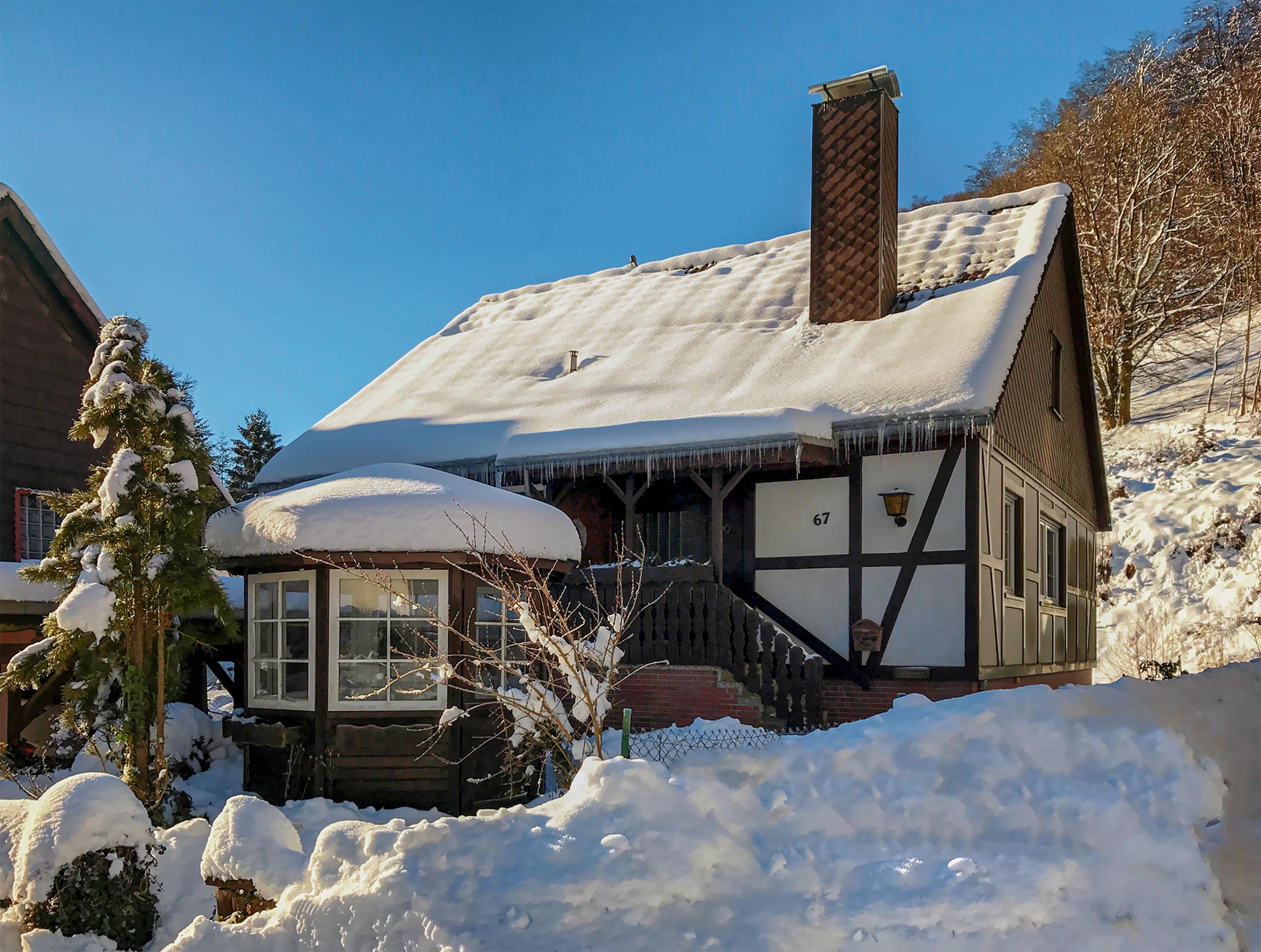 Ferienhaus Wildwechsel in Herzberg OT Lonau -Außenansicht Winter