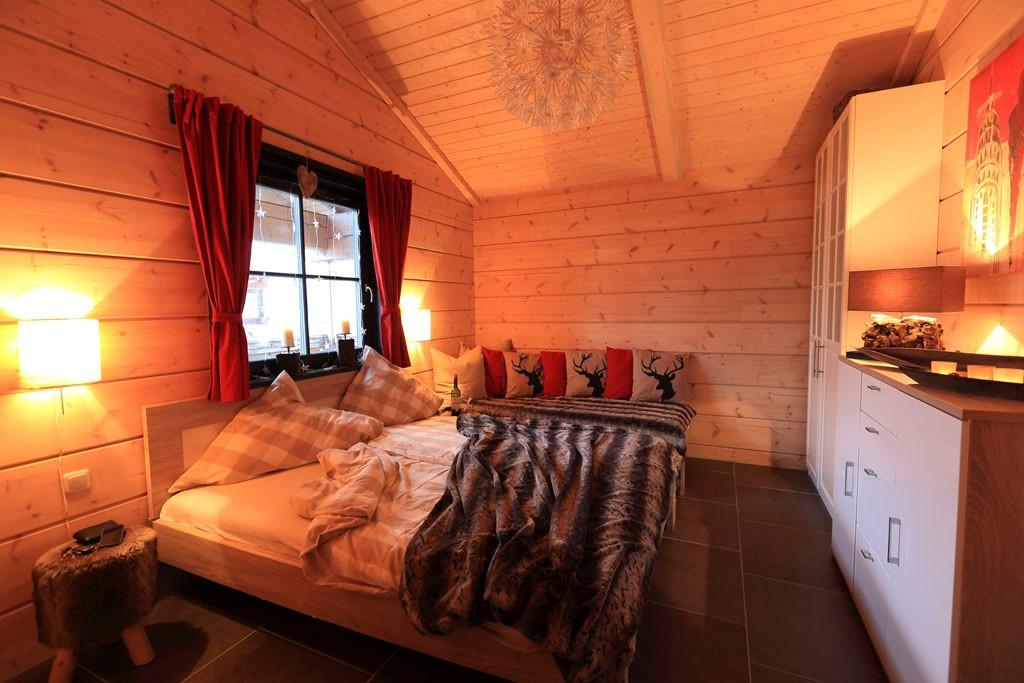 5 Sterne Blockhäuser in Hahnenklee - Doppelbett