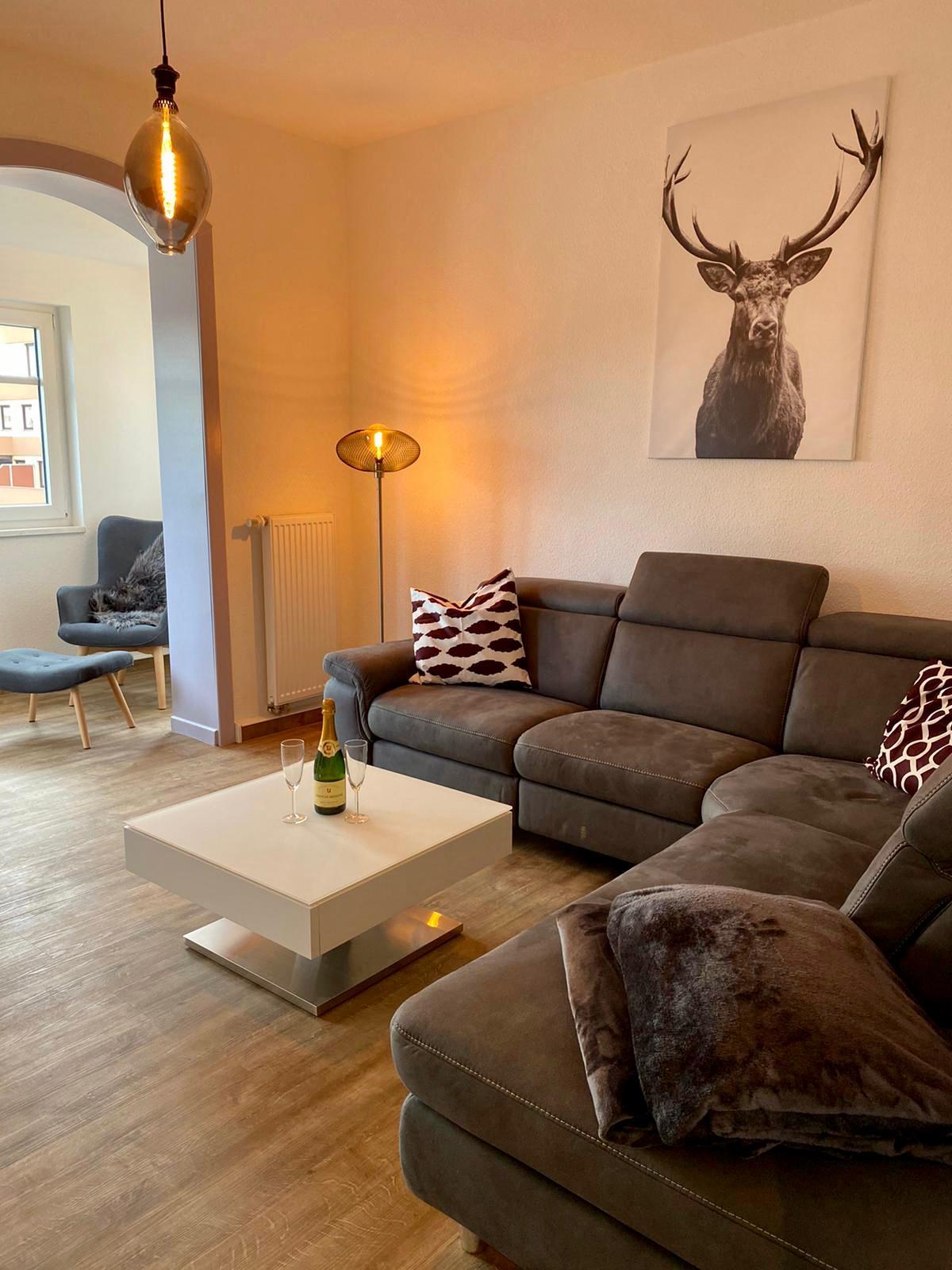 FeWoWa - Bad Sachsa - Ferienwohnung Goetheblick - Wohnzimmer