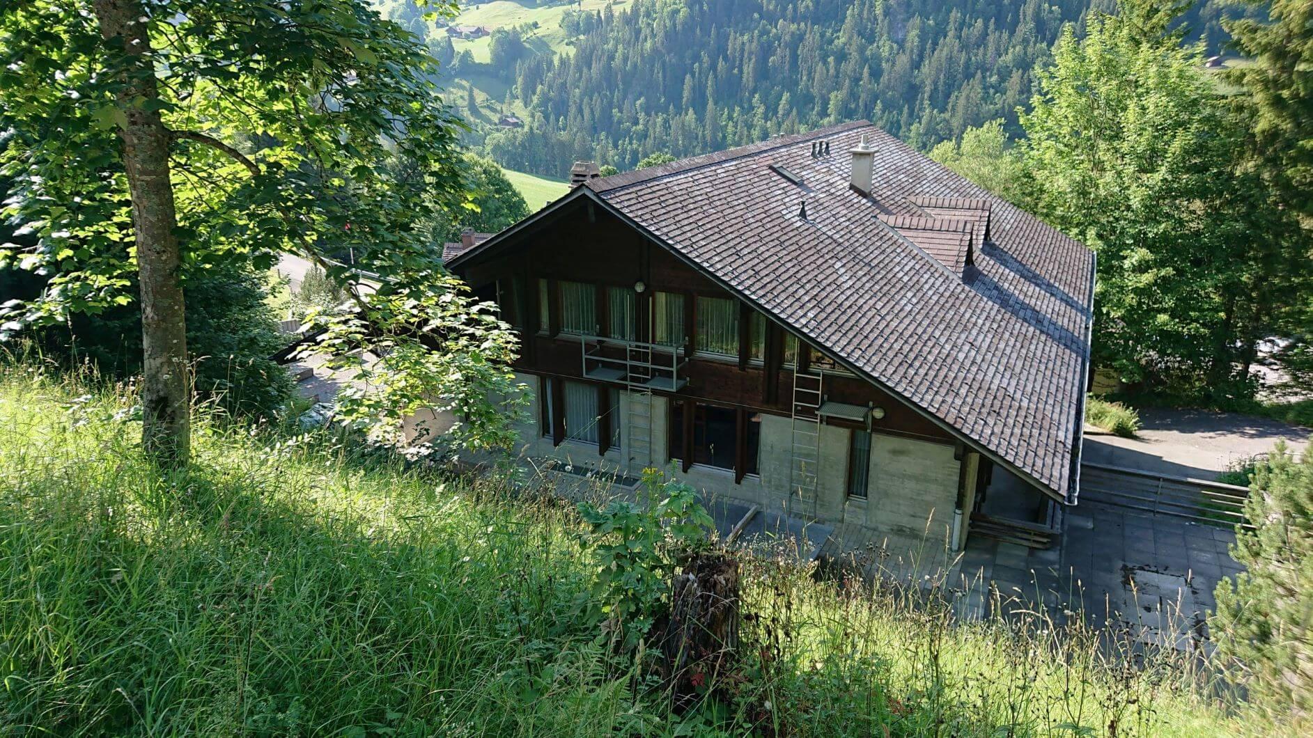 Ferienhaus von oben