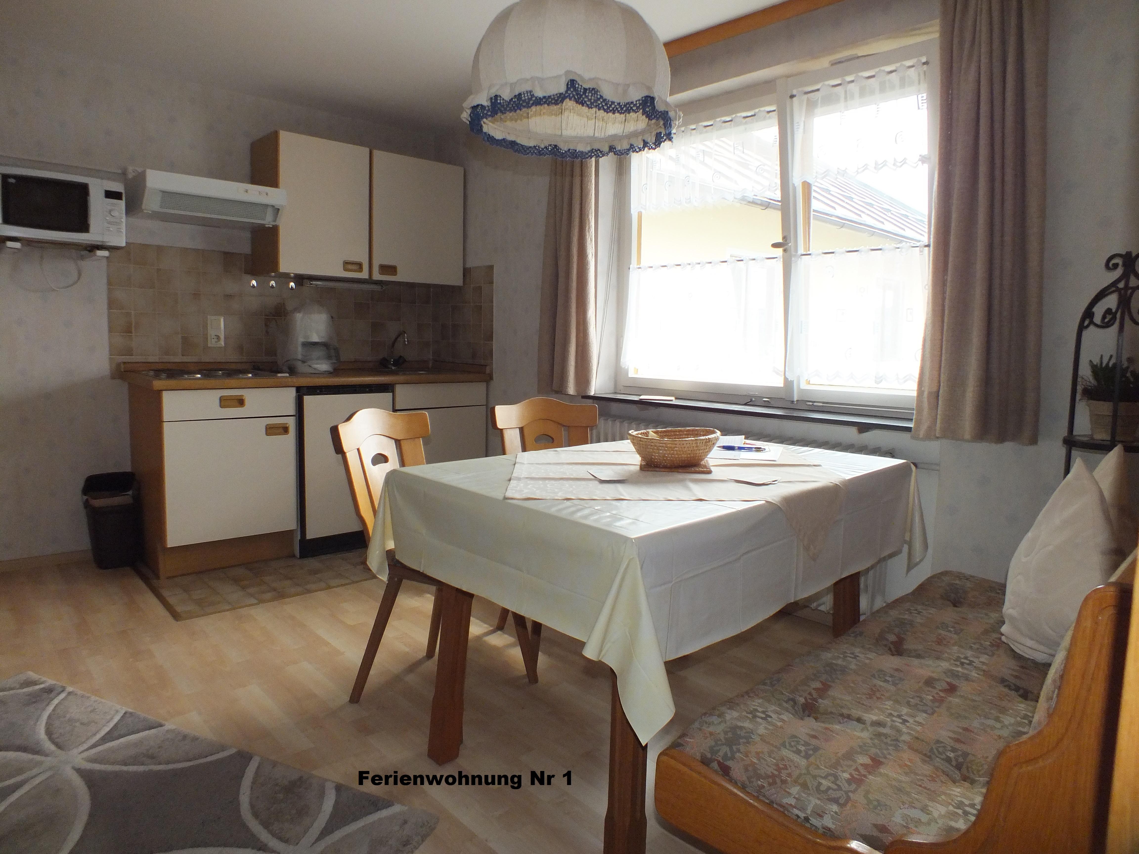 Gästehaus Fink, Ferienwohnung 1, Küche