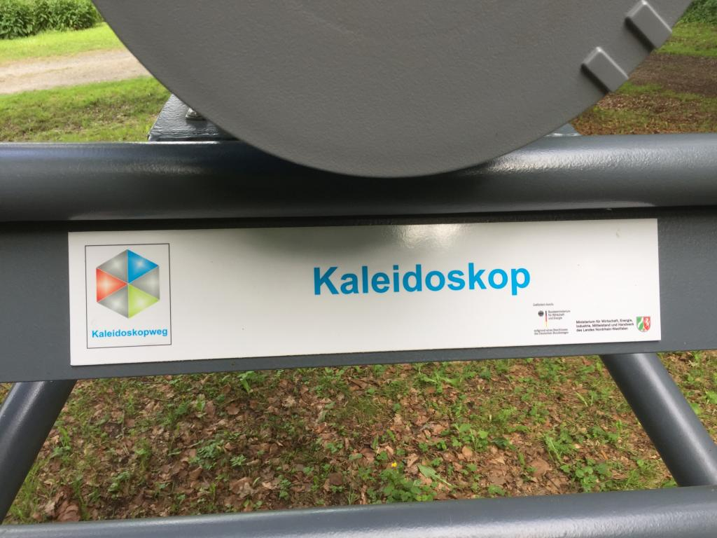 Das Kaleidoskop ist Teil des Kaleidoskopwegs