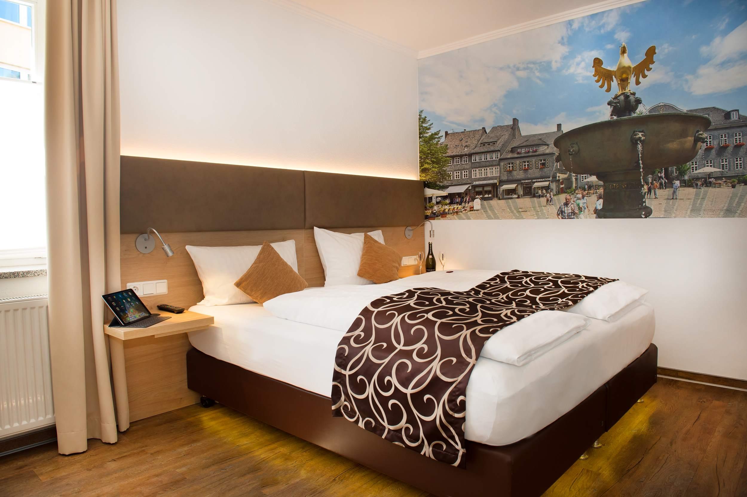 City Appartements am Wall Goslar - Schlafzimmer Rammelsberg