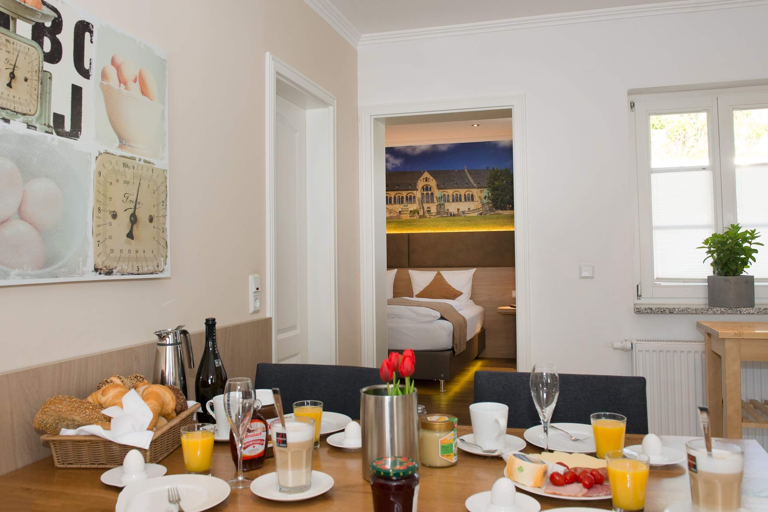 City Appartements am Wall Goslar - Frühstück