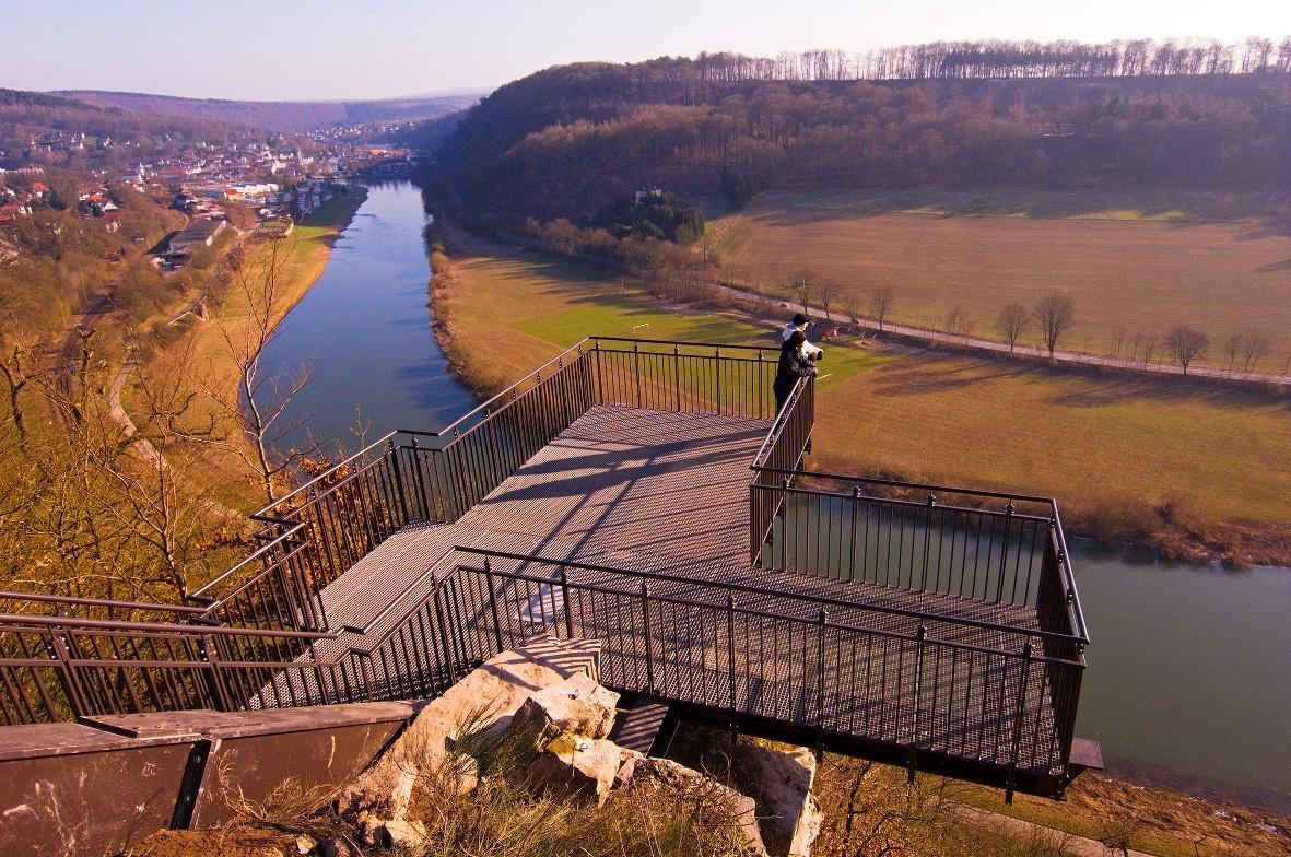 Weser-Sykwalk im Winter