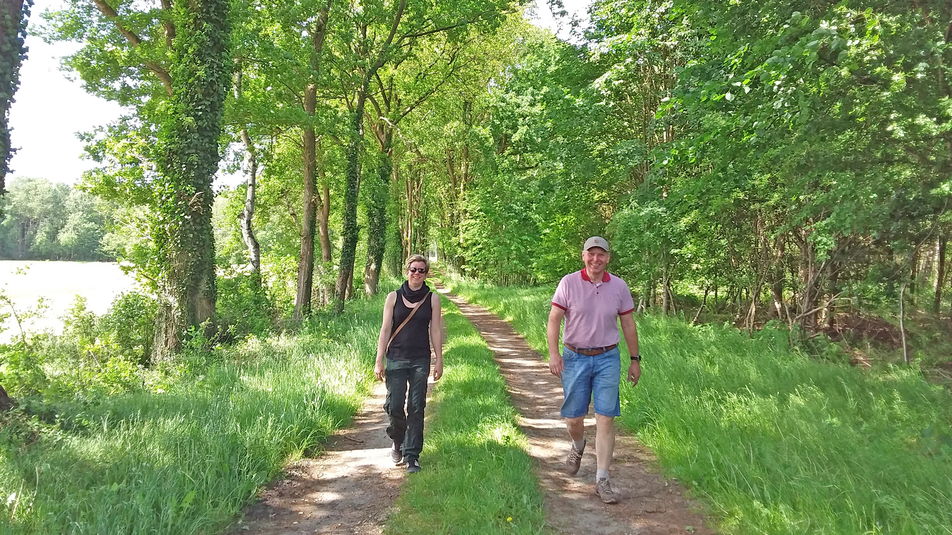 Entspanntes Wandern durch schattige Wälder am Naturschutzgebiet Glindbusch