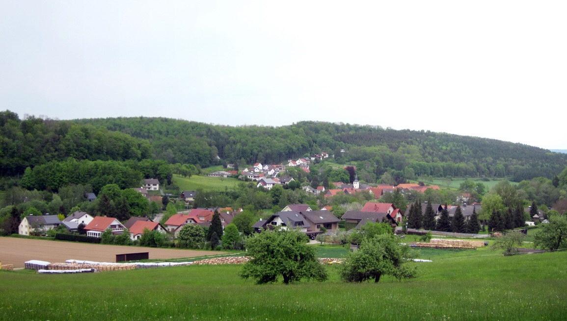 Blick auf Himmighausen aus Westen