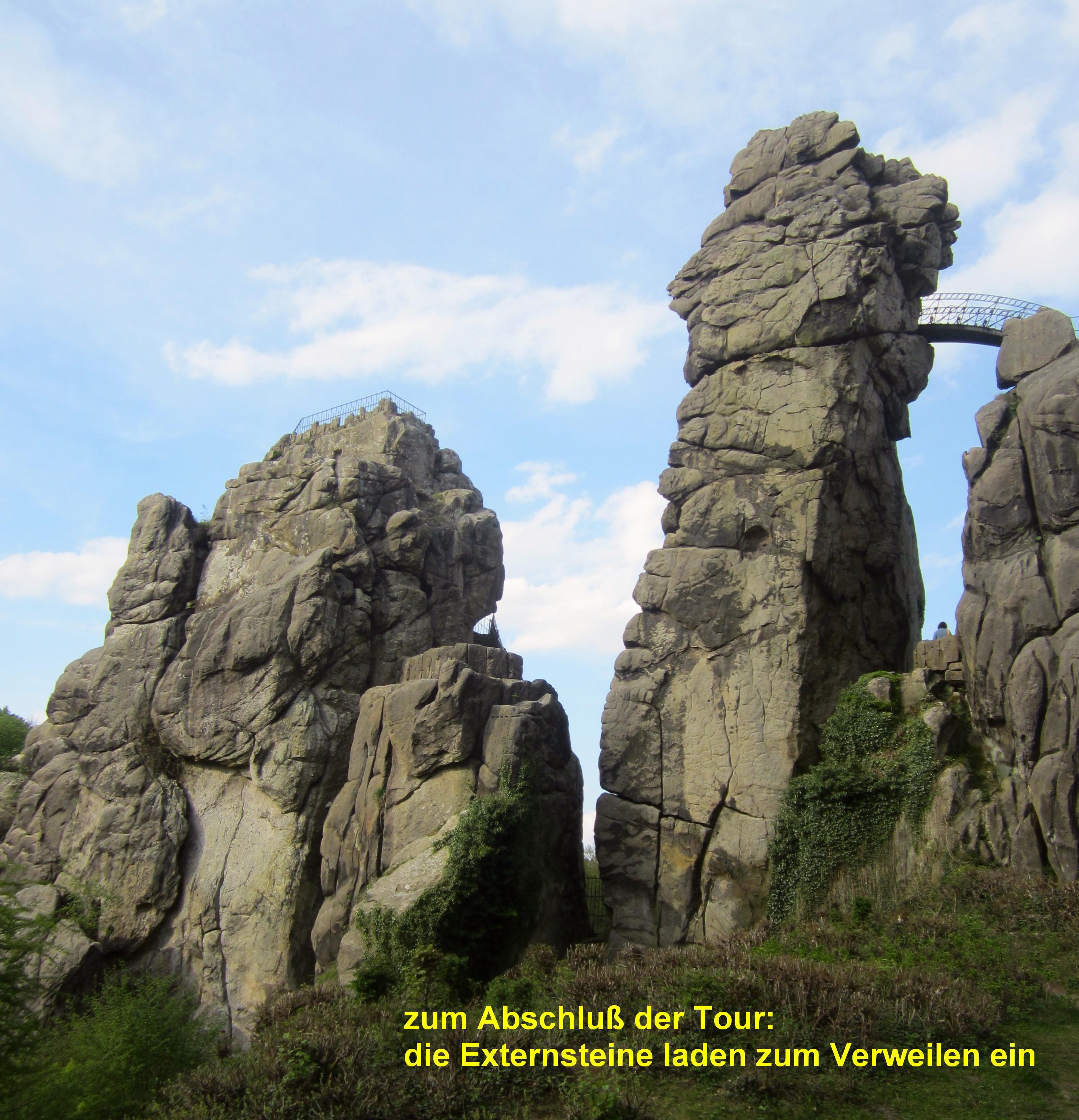 Externsteine, Natur- u. Kulturdenkmal im Naturpark Teutoburger Wald