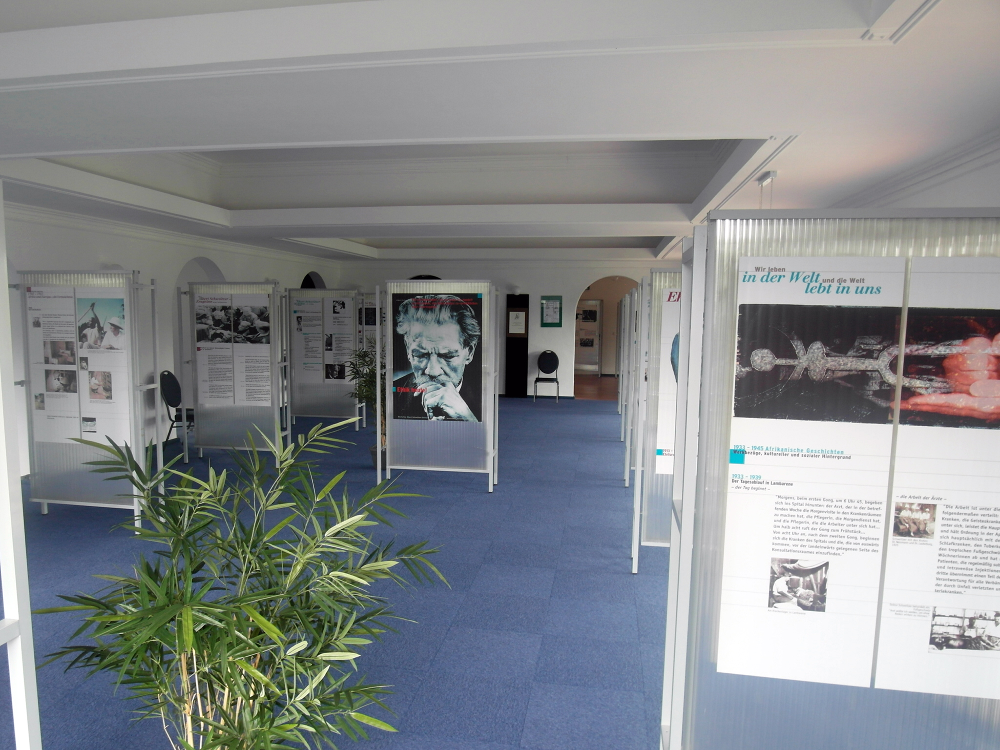 Ausstellungsraum im Glocken-Palast