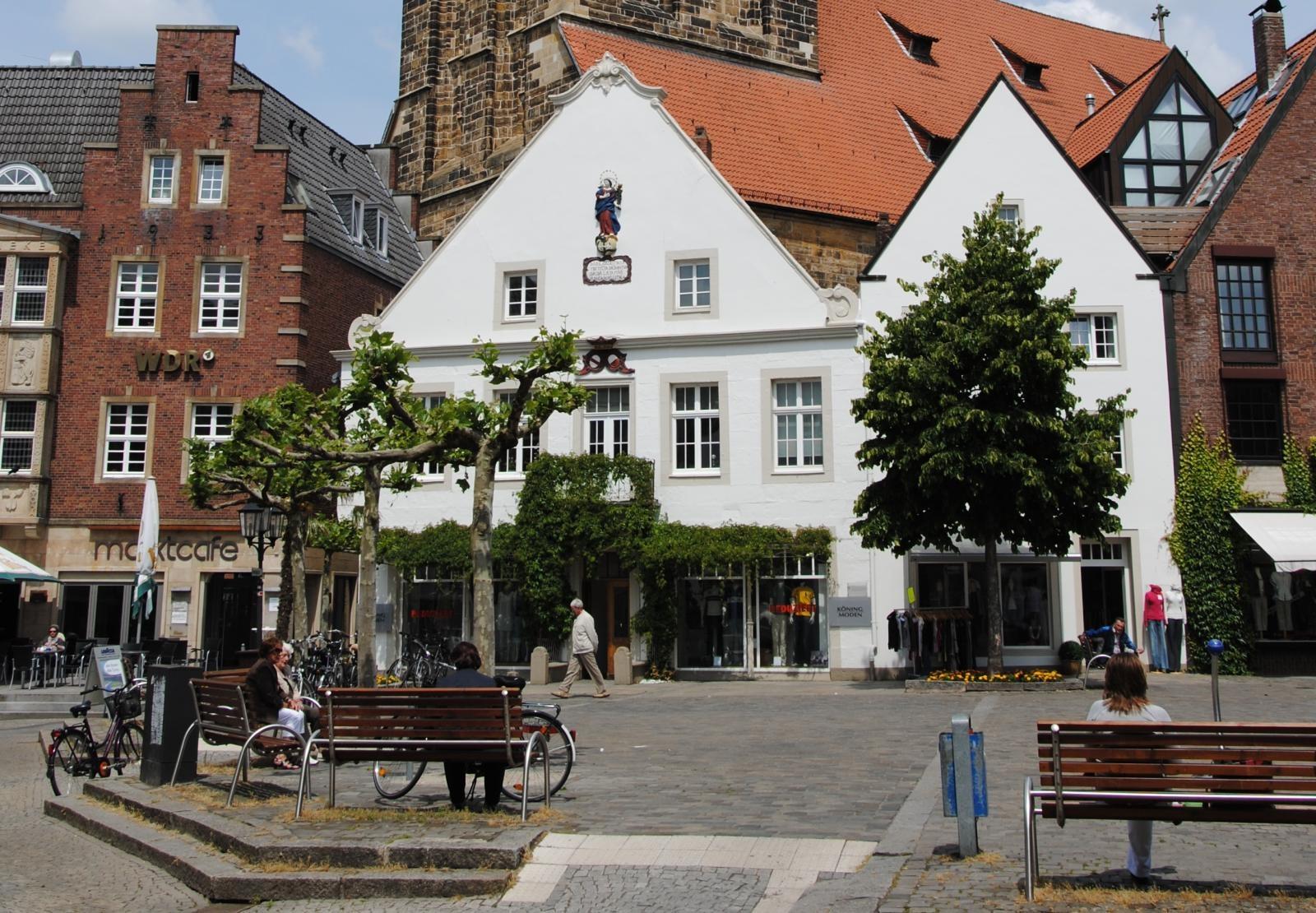 Der Marktplatz in Rheine