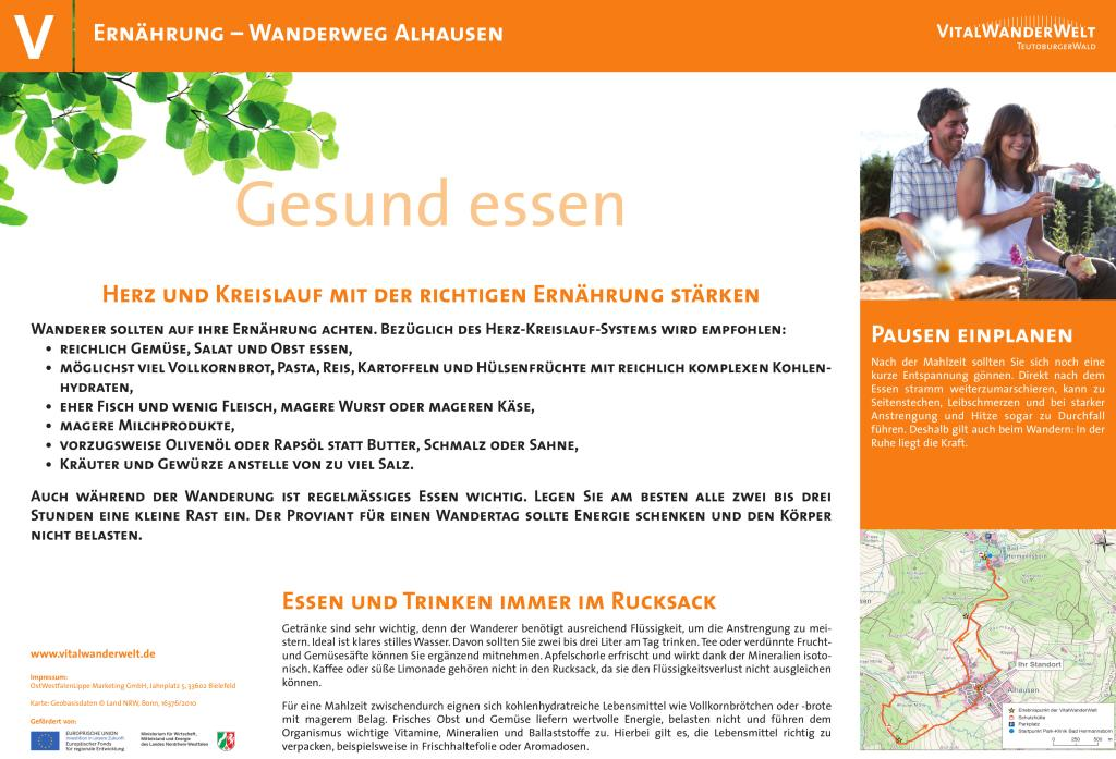 VitalWanderWelt Wanderweg Alhausen - Gesund essen