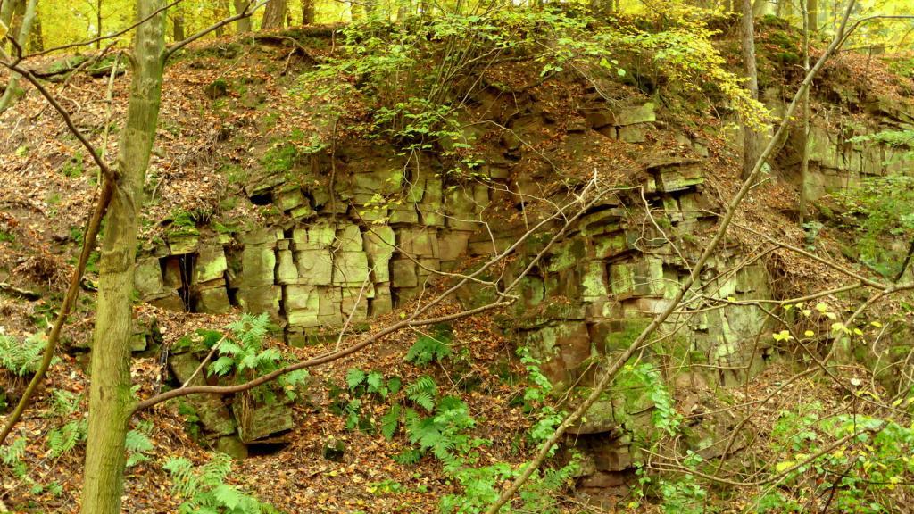 alte Steinbrüche vor Blankenau