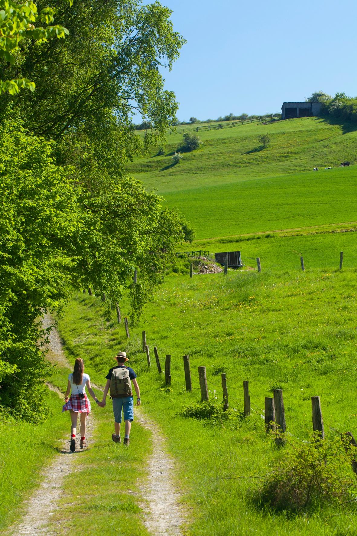 Wanderer am Sommerberg - Walzgraben Sielen