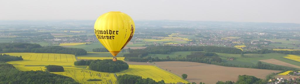 Ballonfahren mit Rehm Ballooning - Himmel über dem Teutoburger Wald