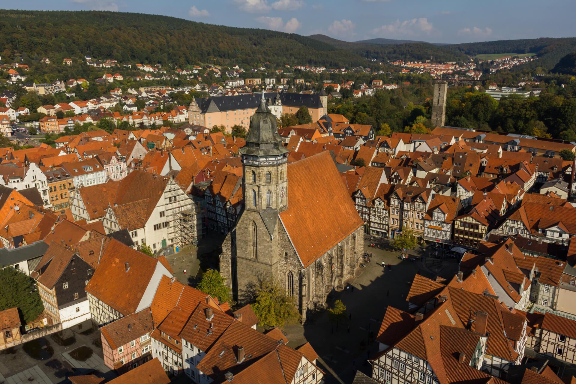 Luftbild St. Blasius Kirche