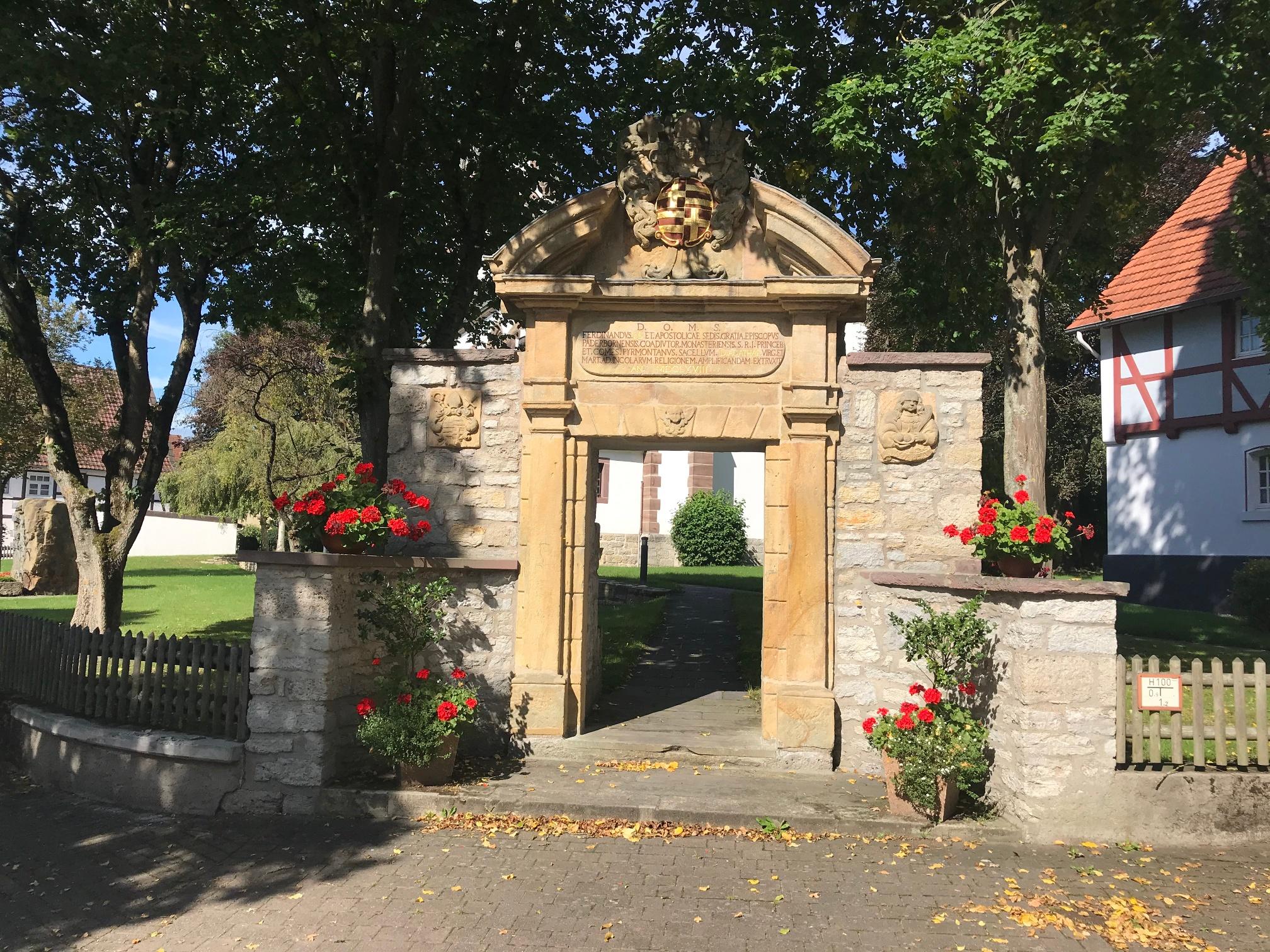 Kirchplatz in Siddessen
