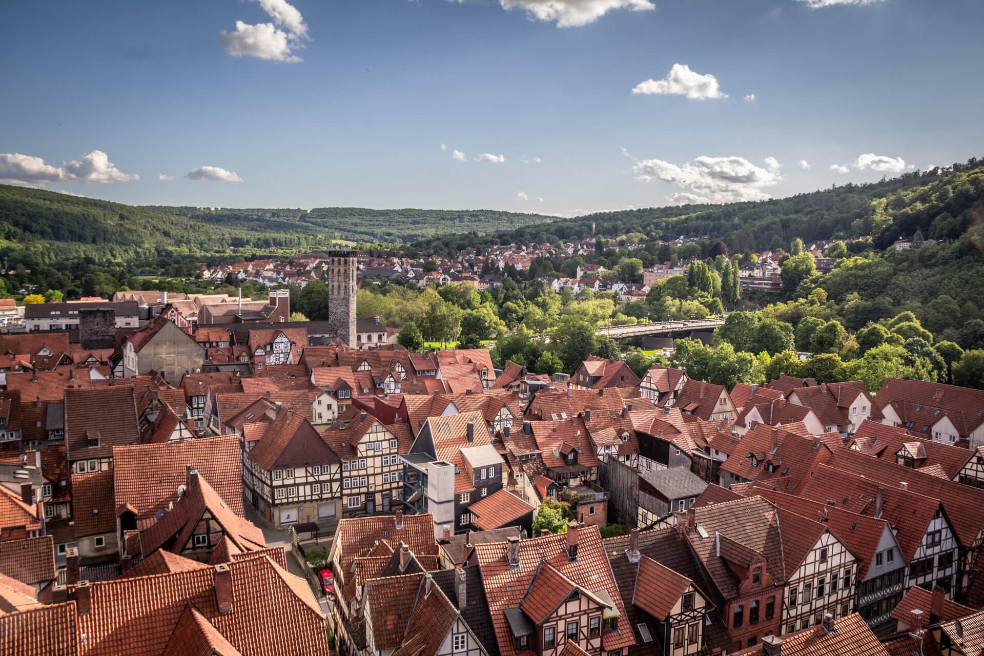 Hann. Münden - Blick von der St. Blasius Kirche