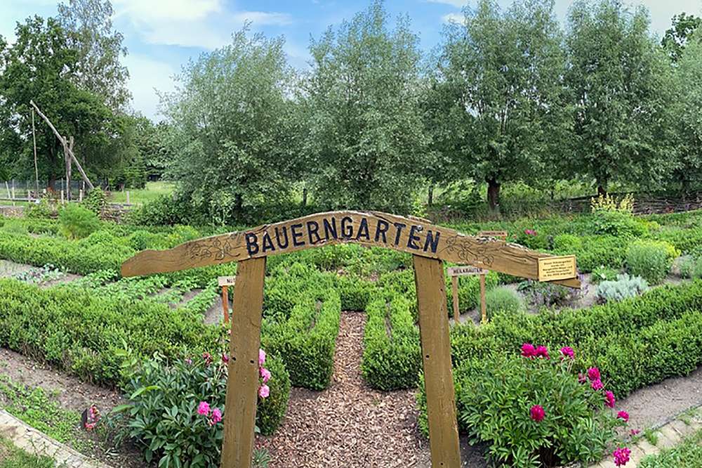 Bauerngarten am Museum für Grenze und Landwirtschaft in Böckwitz