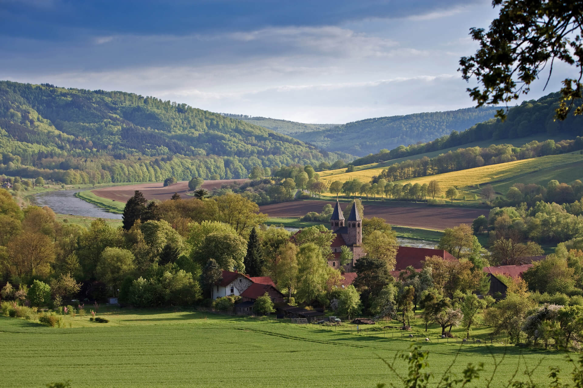 Kloster Bursfelde, Luftbild