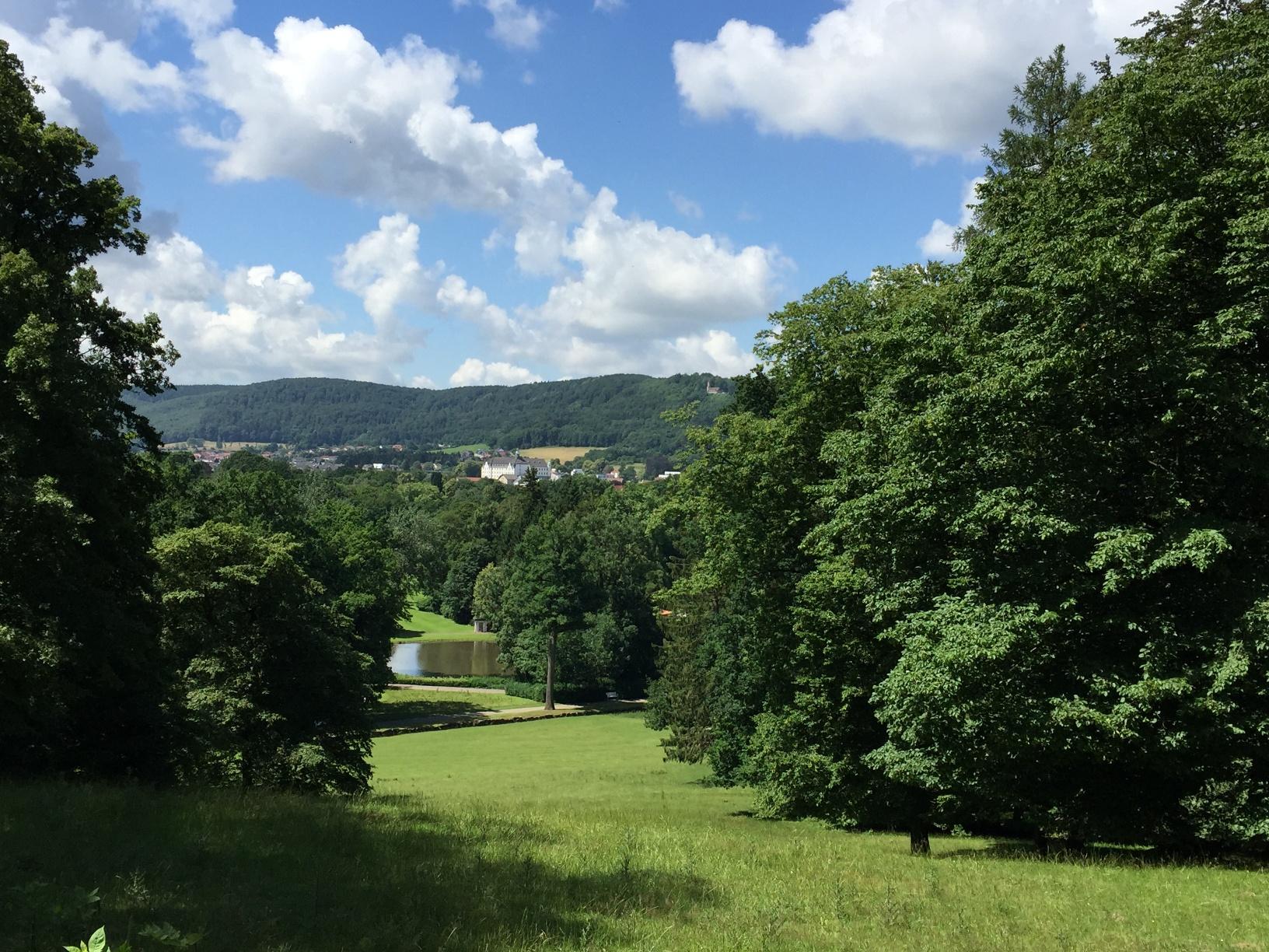 Blick vom Rosenberg auf den Gräflichen Park