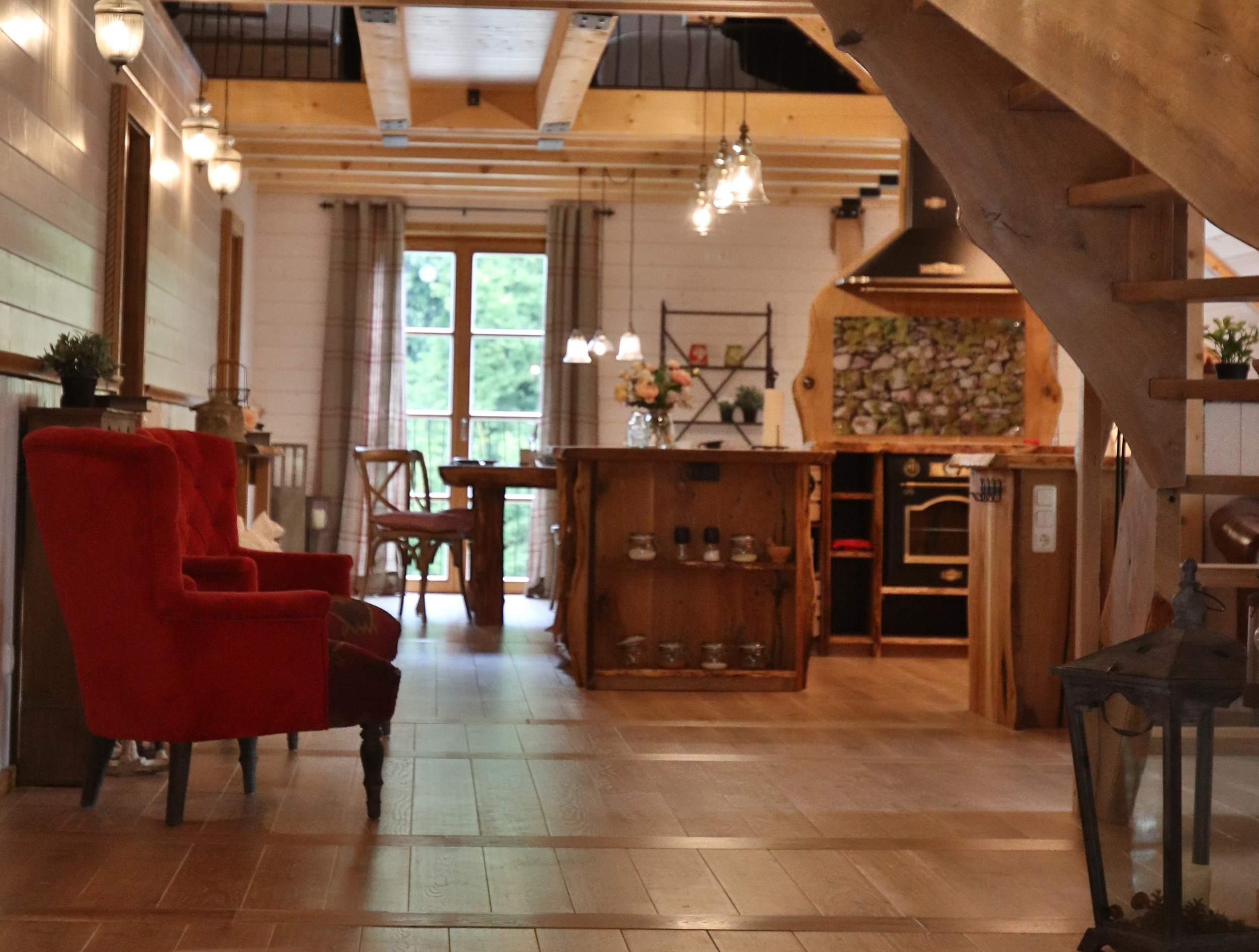 Earls Lane in Bad Lauterberg - Cote Cottage - offener Wohnbereich