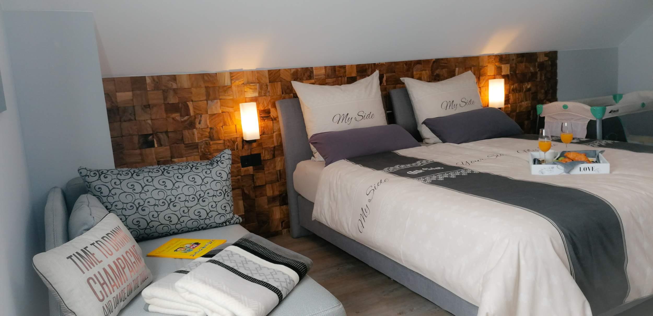 Ferienhäuser im Barbarossaweg Hasselfelde - großes Schlafzimmer