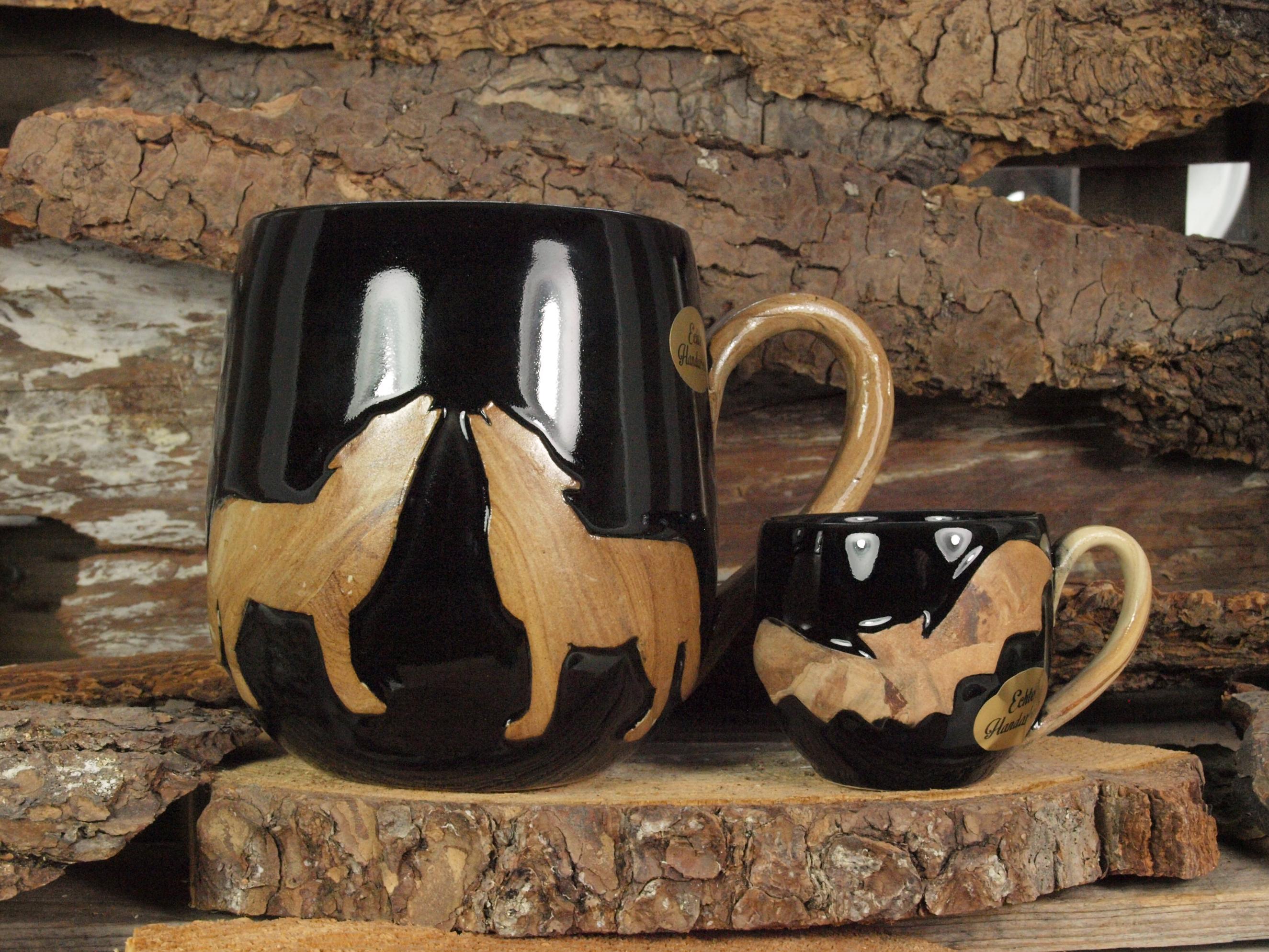 Harz Keramik - Jumbotasse und Espressotasse