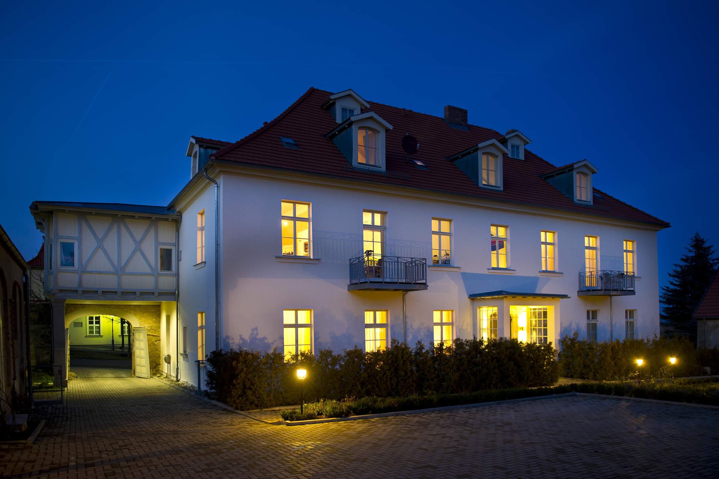 Appartements Residenz Jacobs in Ballenstedt - Nachtansicht