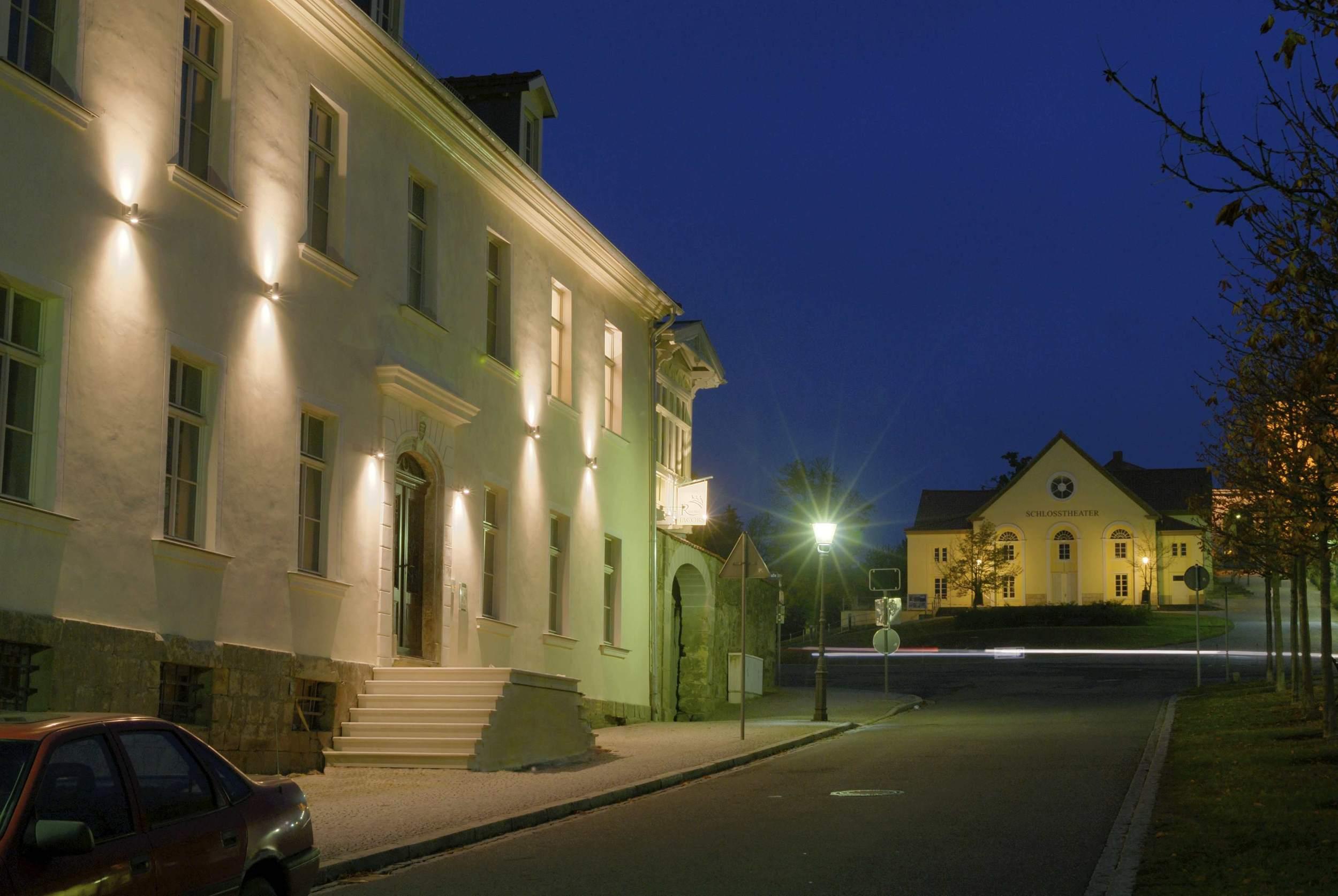 Appartements Residenz Jacobs in Ballenstedt - Fassade bei Nacht
