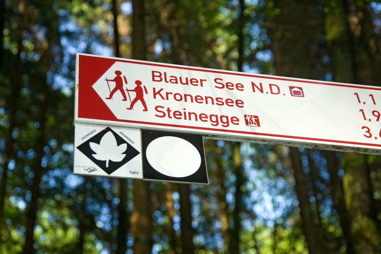 Unser Wanderleitsystem führt Sie sicher durch die Natur