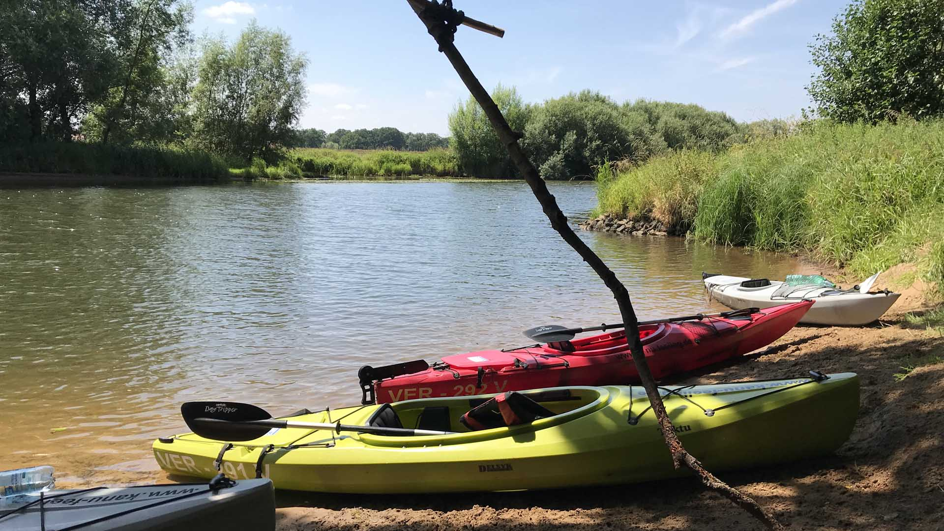 Kanu-Feeling, paddeln auf der Aller