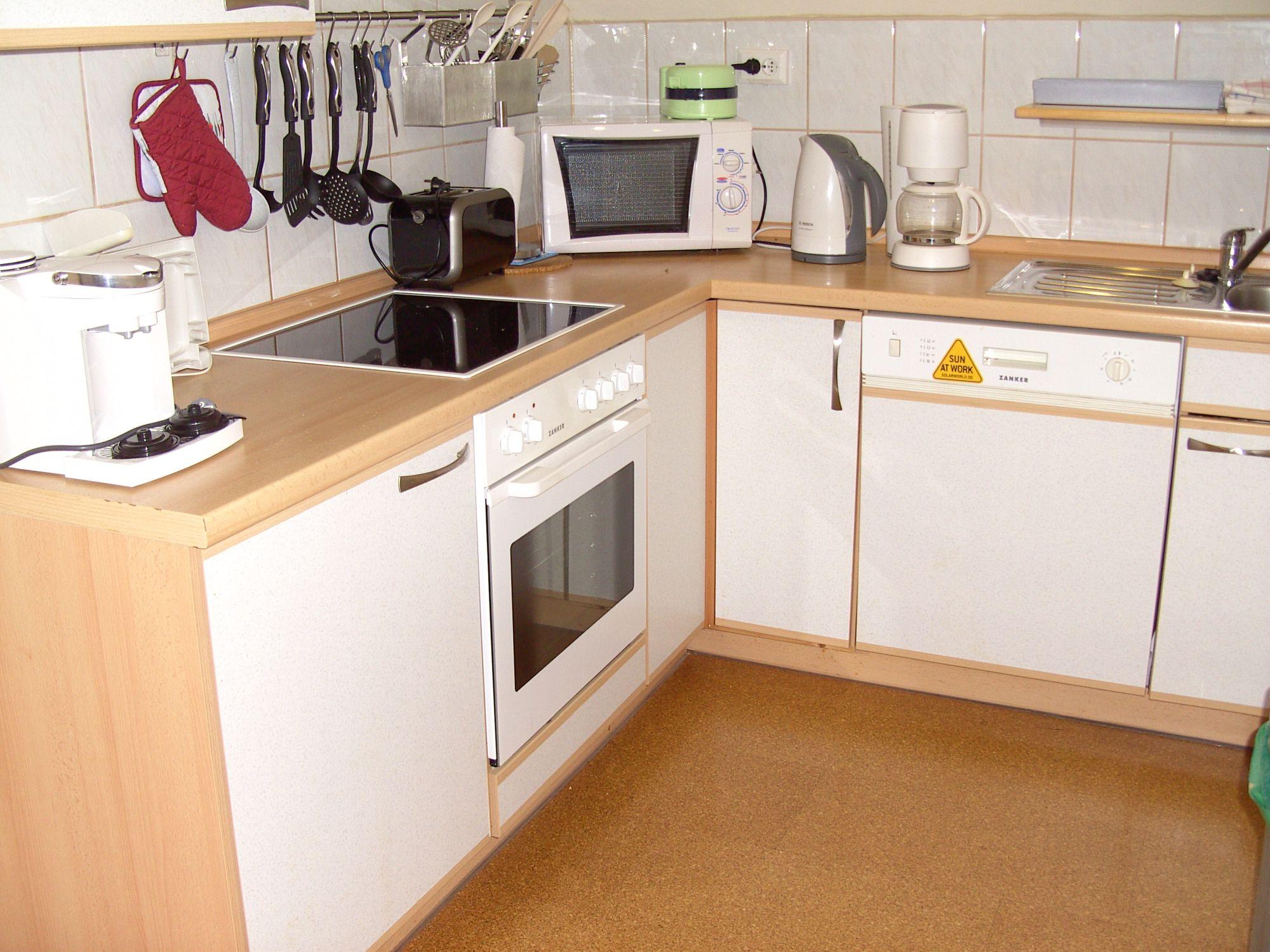 Küche in der Ferienwohnung Schünemann