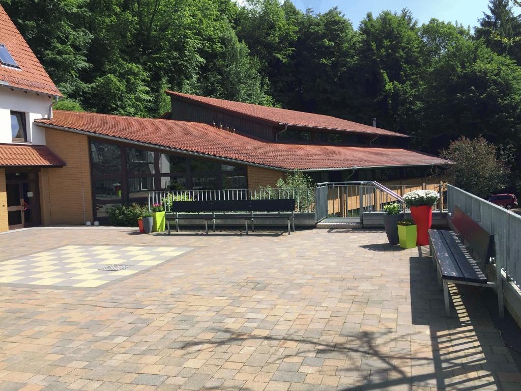 Jugendgästehaus Rödinghausen - Blick auf die Sporthalle