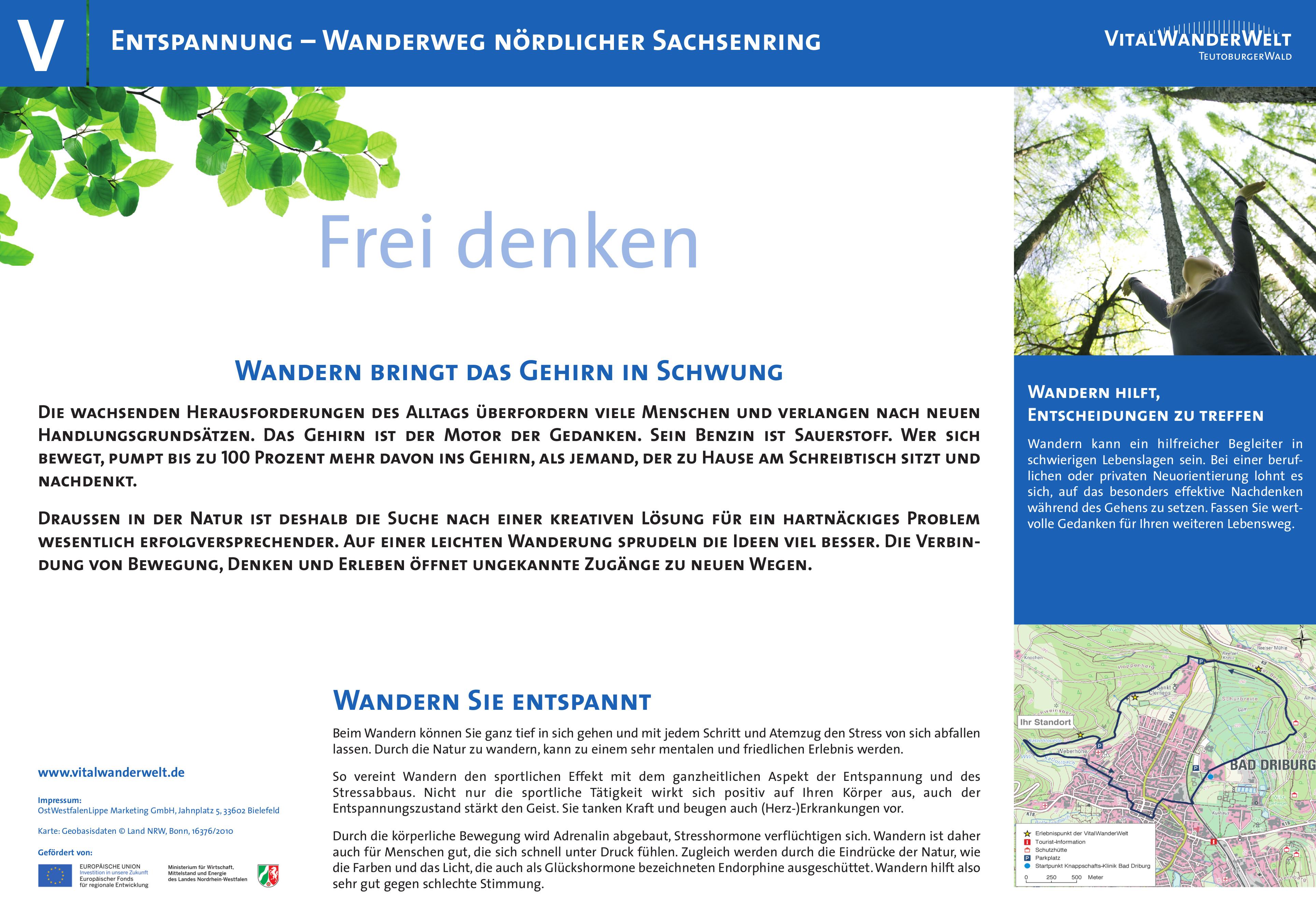 VitalWanderWelt Wanderweg nördlicher Sachsenring - Frei denken