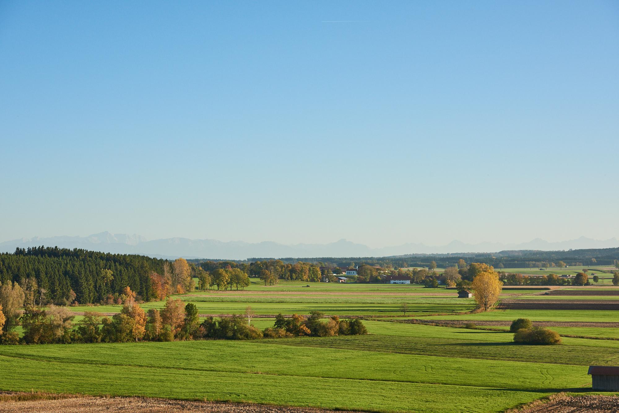 Schöner Ausblick von Hartenthal im Herbst