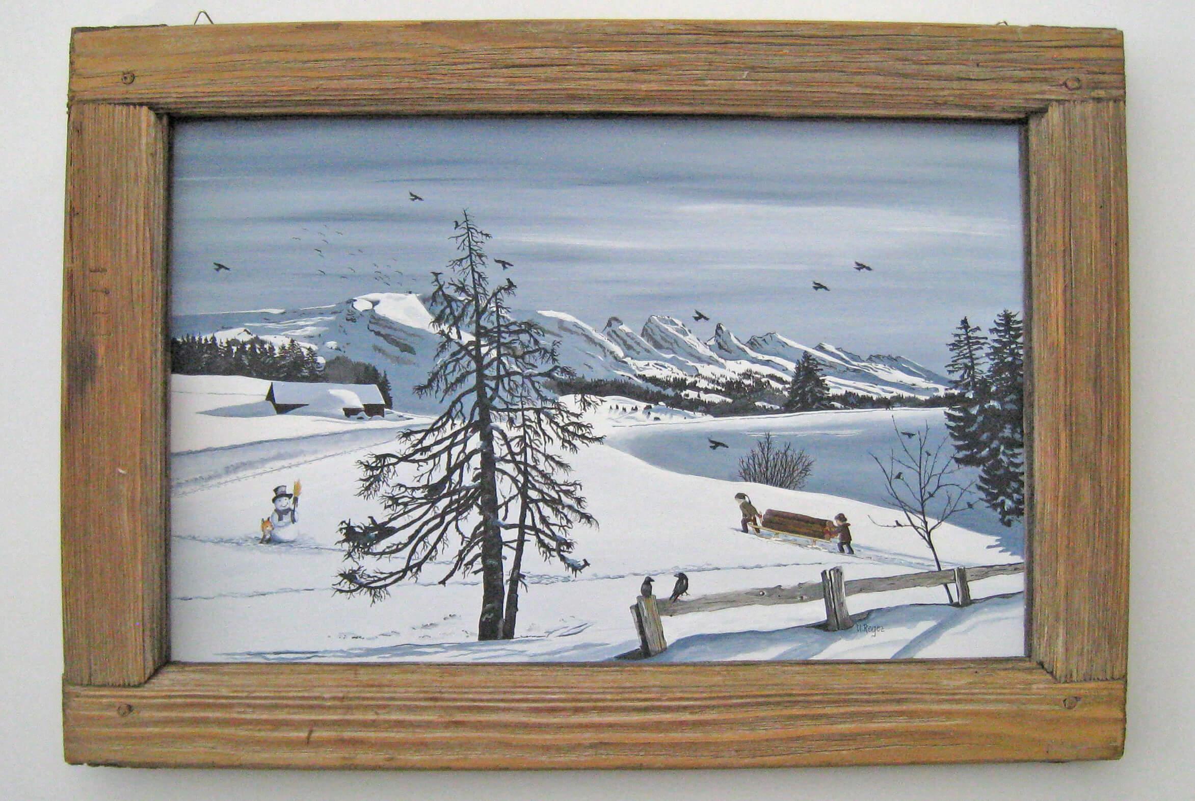 Verschneite Stockhornkette