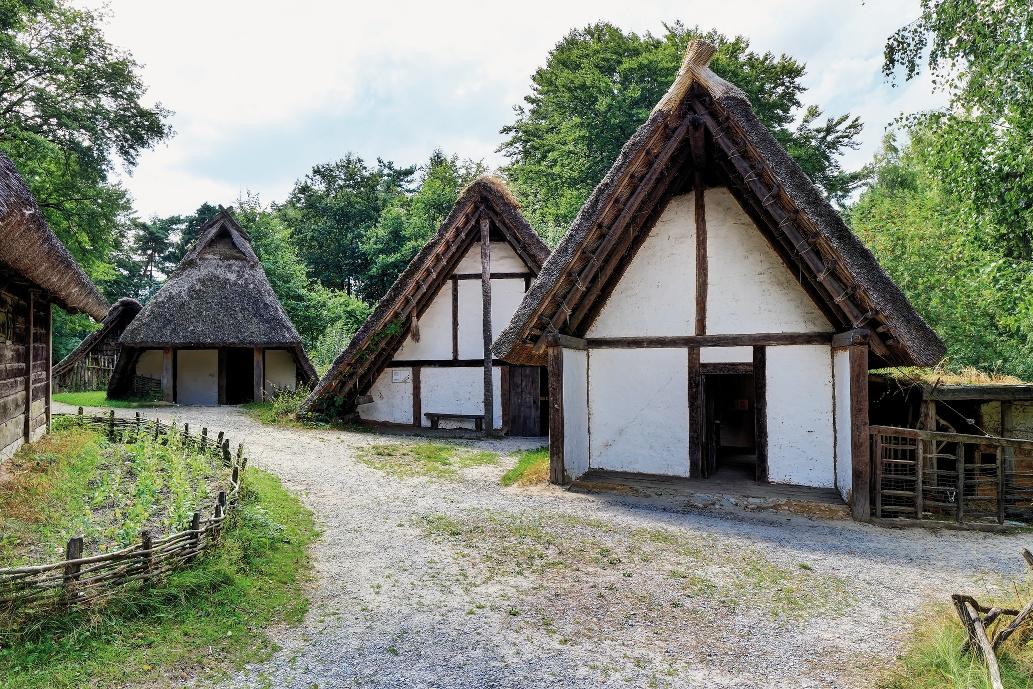 Germanengehöft im Archäologischen Freilichtmuseum Oerlinghausen