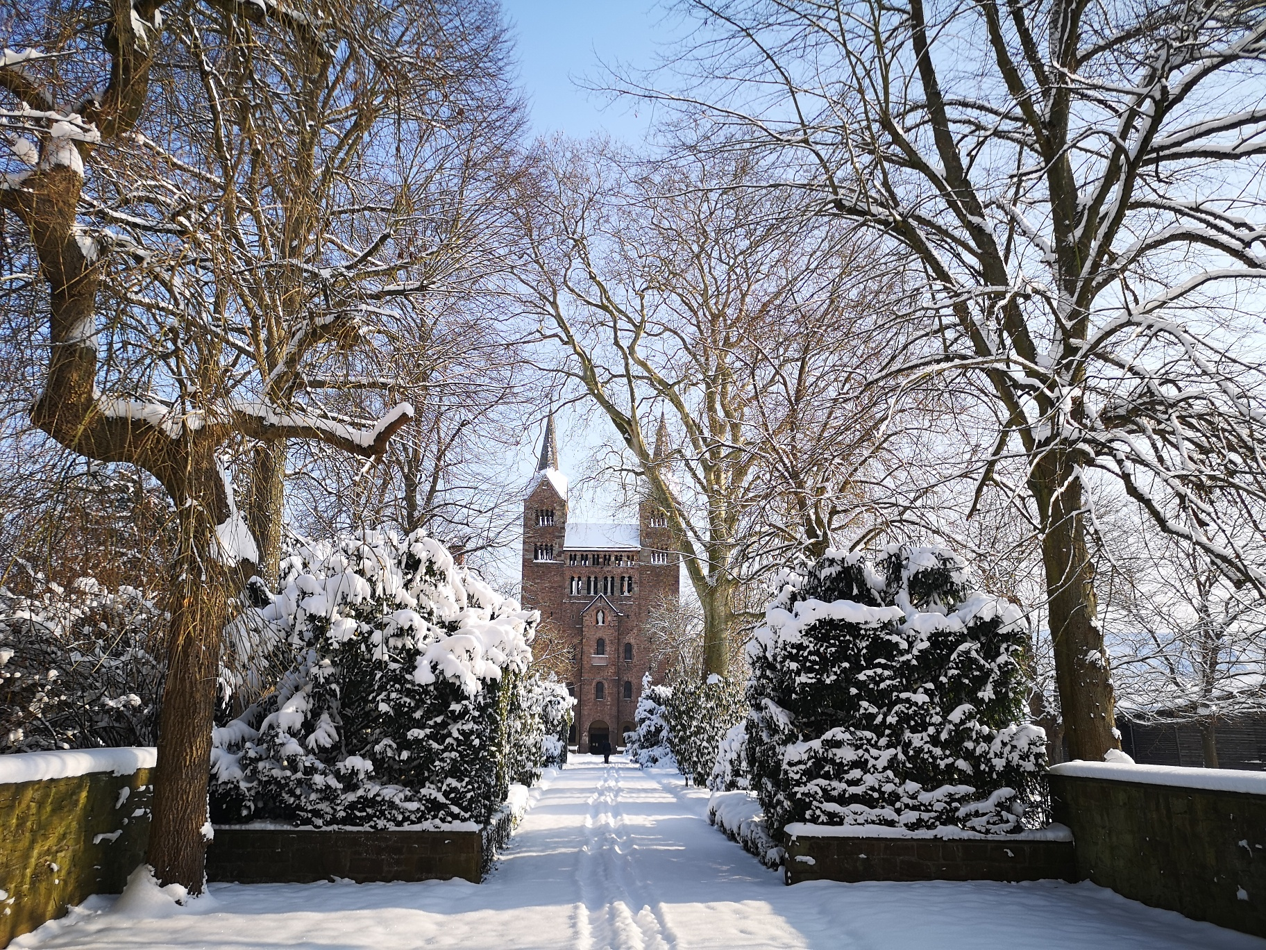 Welterbe Westwerk Corvey im Winter