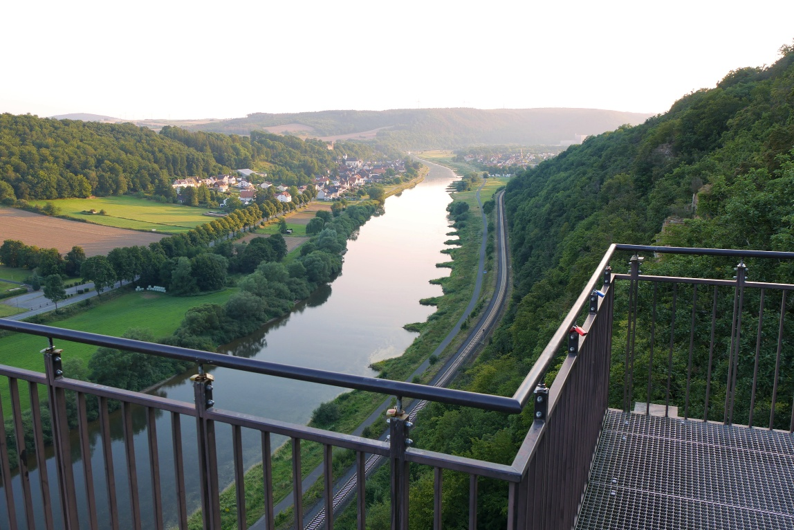 Aussicht vom Weser-Skywalk