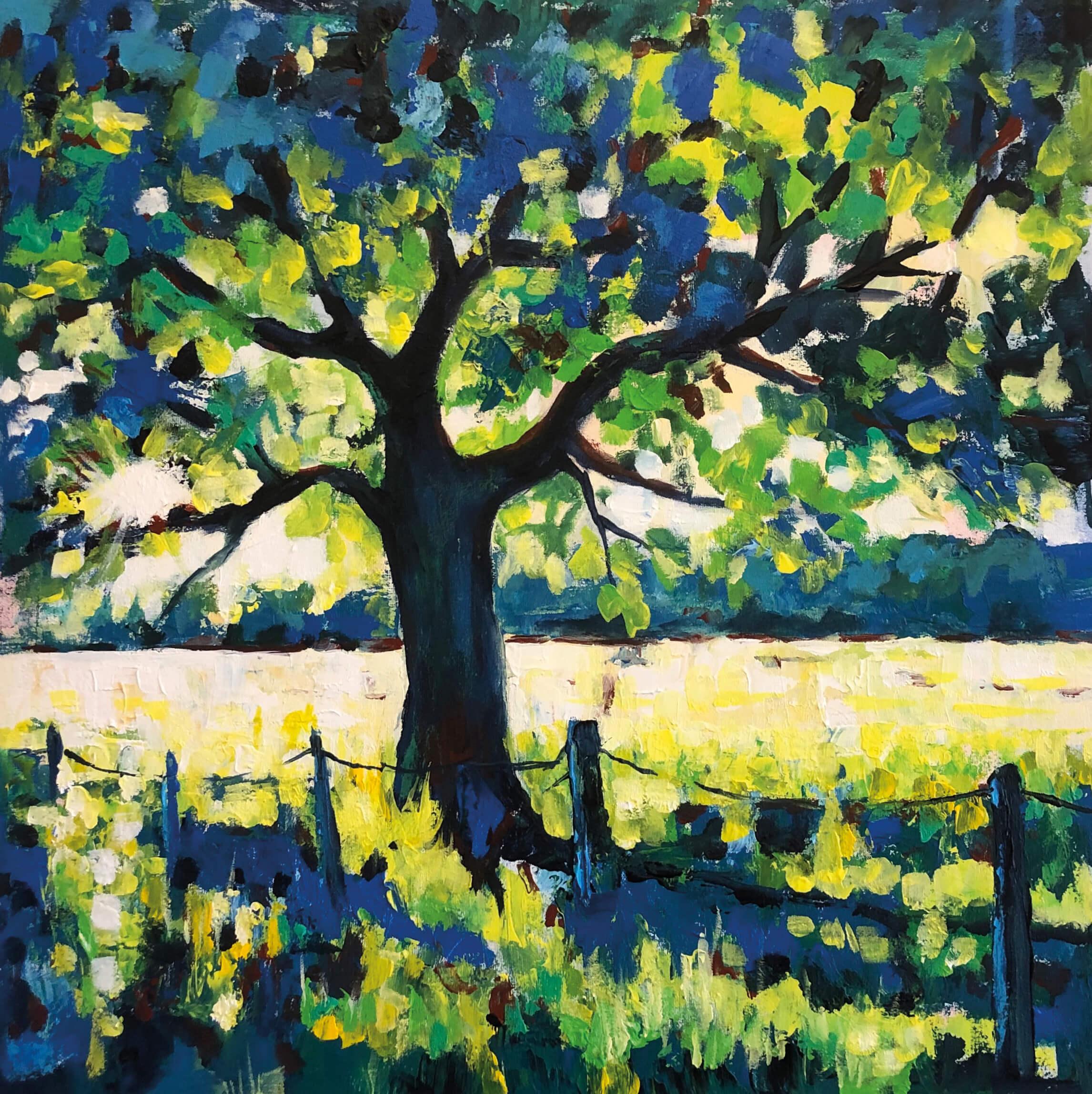 Galerie Diskus - Baum auf einer Wiese